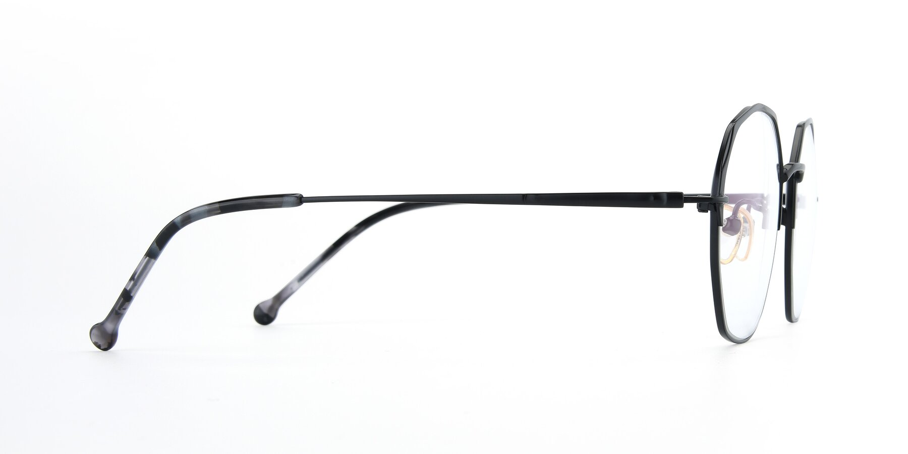 Side of 18020 in Black with Clear Eyeglass Lenses
