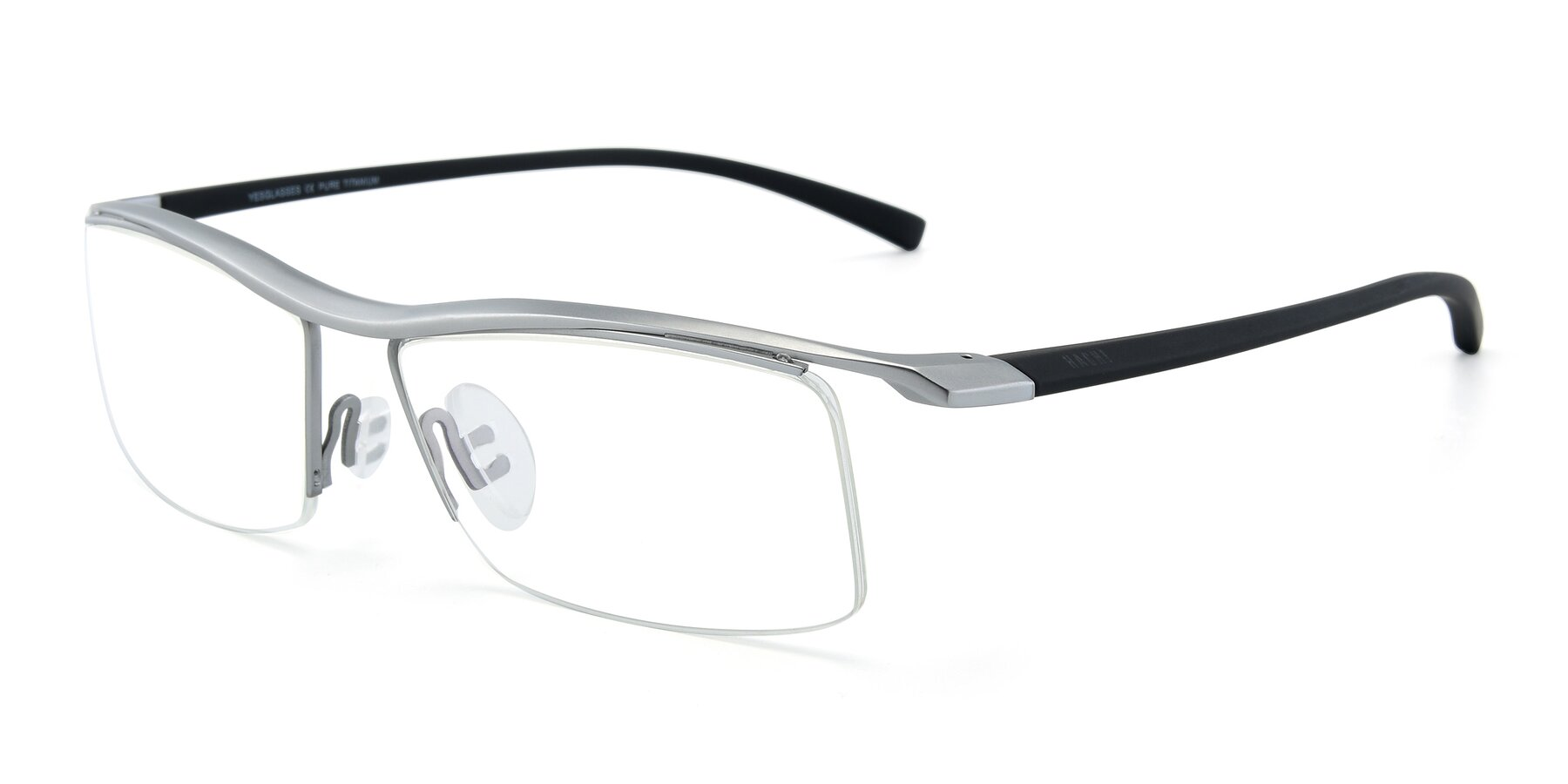 Angle of 40001 in Silver with Clear Eyeglass Lenses