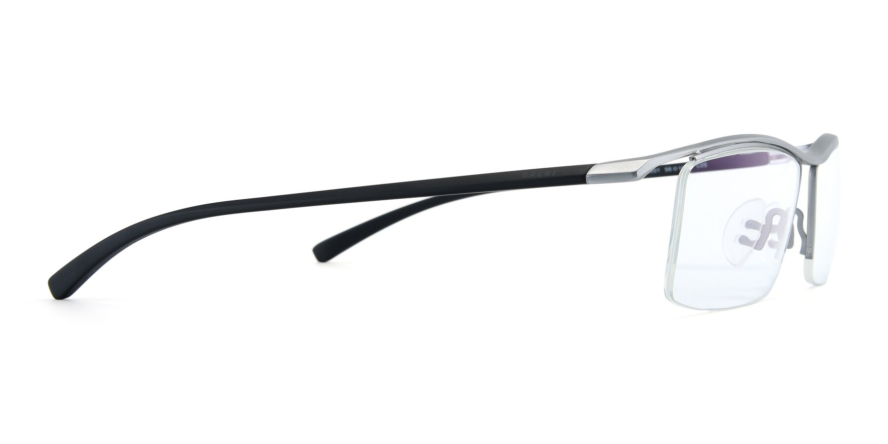 Side of 40001 in Silver with Clear Eyeglass Lenses