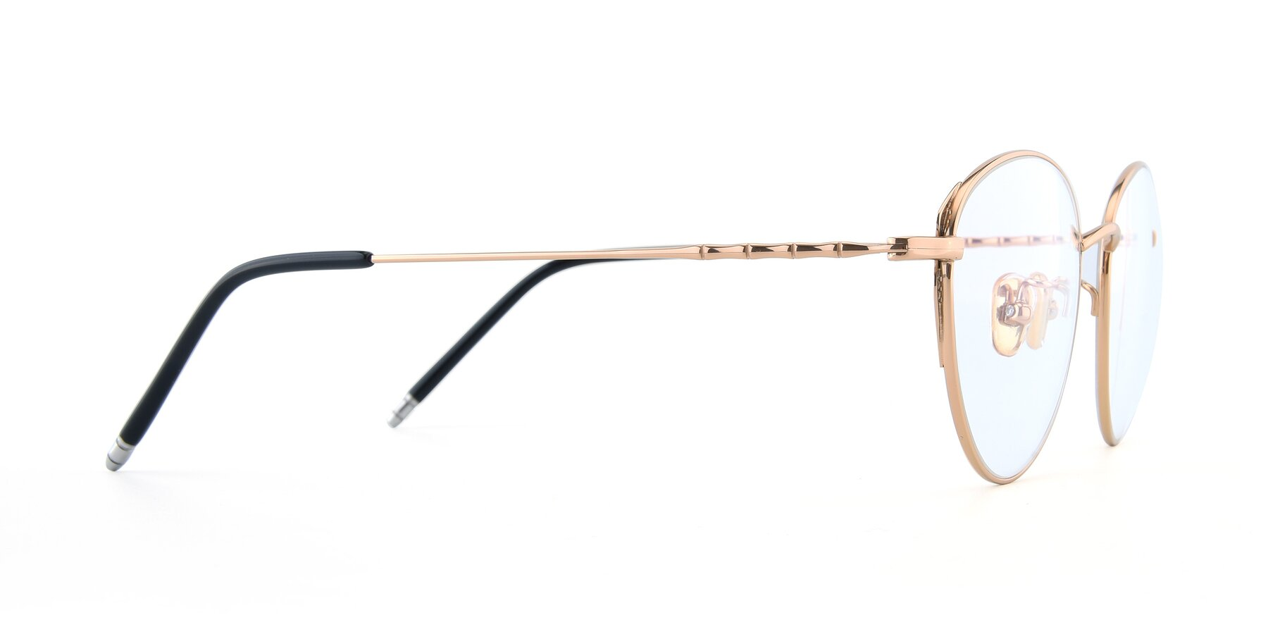 Side of 90056 in Rose Gold with Clear Eyeglass Lenses