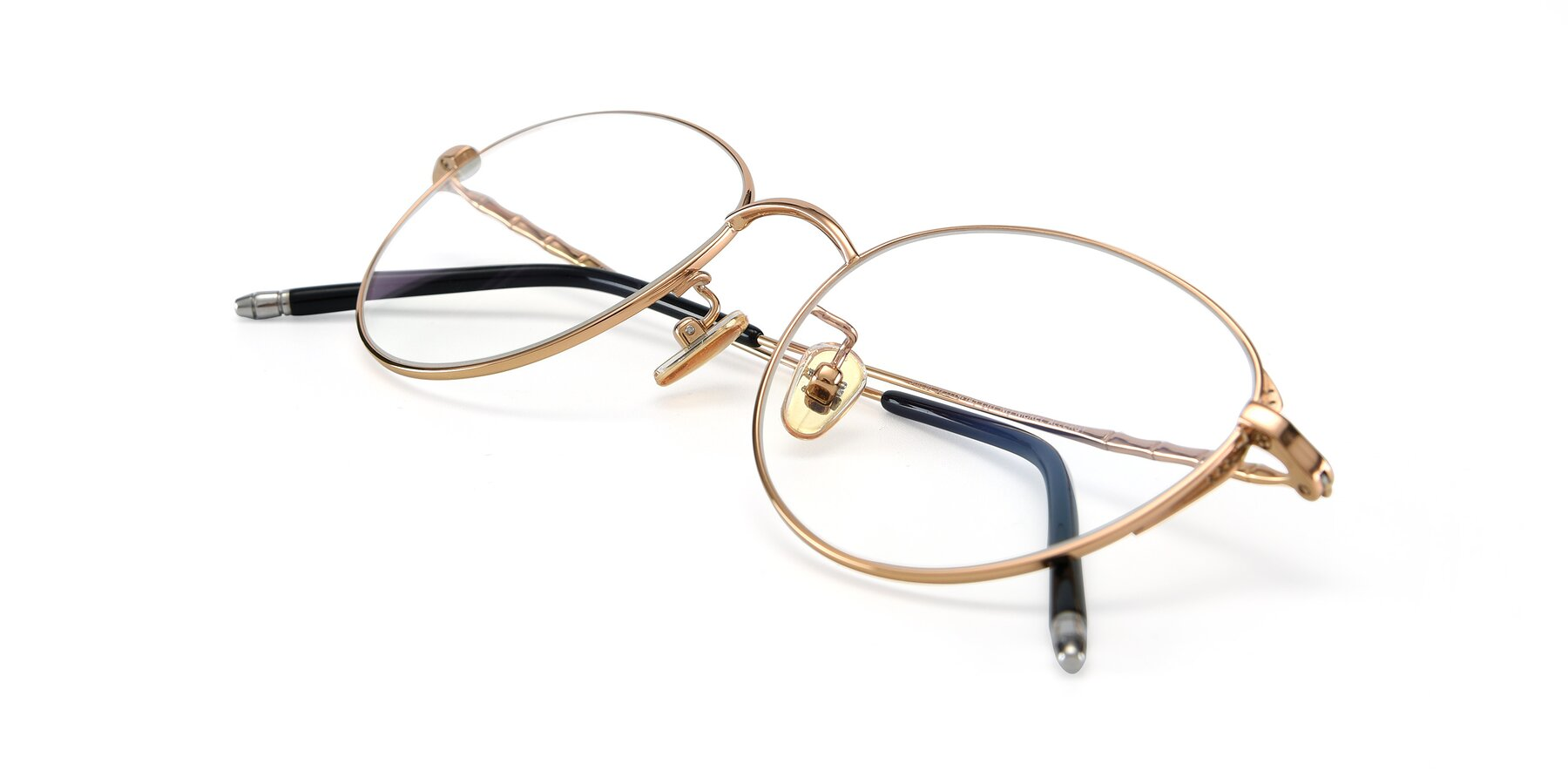 View of 90056 in Rose Gold with Clear Eyeglass Lenses