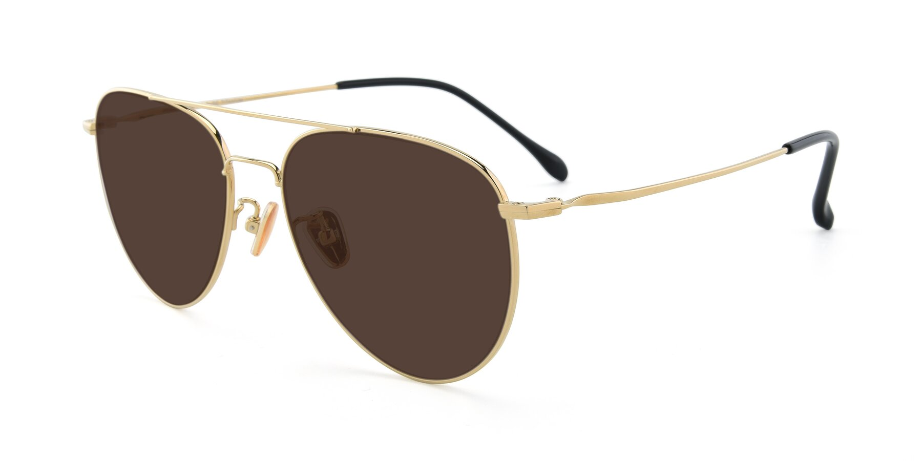 Angle of 80060 in Gold with Brown Tinted Lenses
