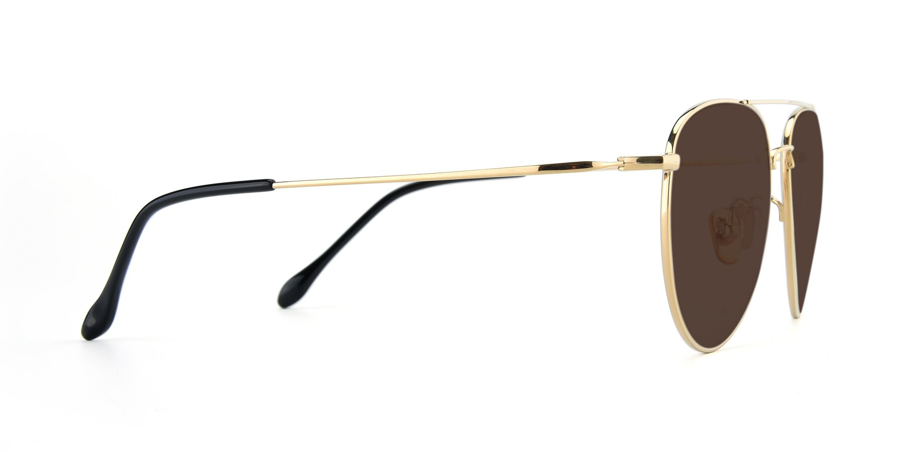 Side of 80060 in Gold with Brown Tinted Lenses