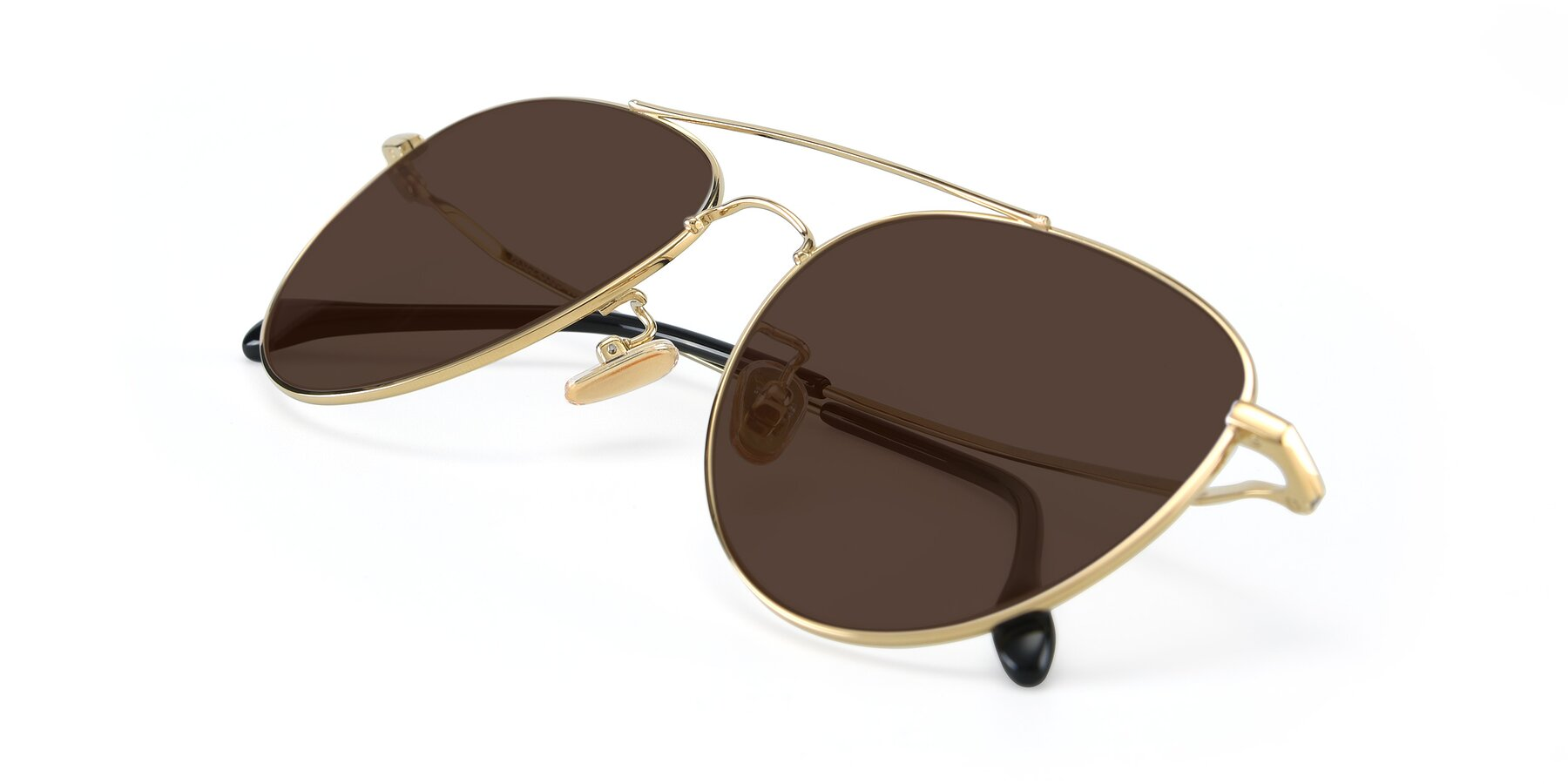 View of 80060 in Gold with Brown Tinted Lenses