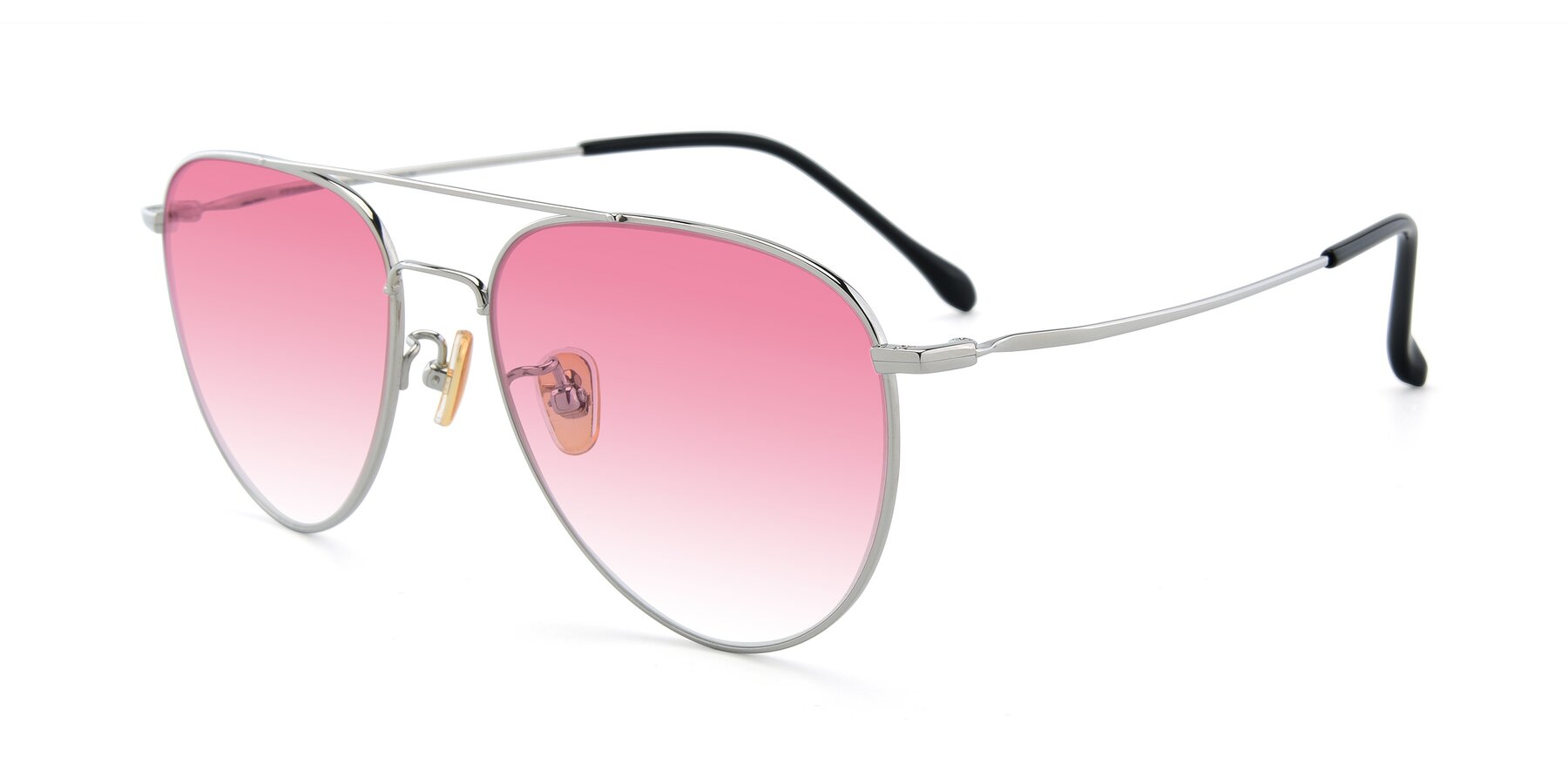 Angle of 80060 in Silver with Pink Gradient Lenses