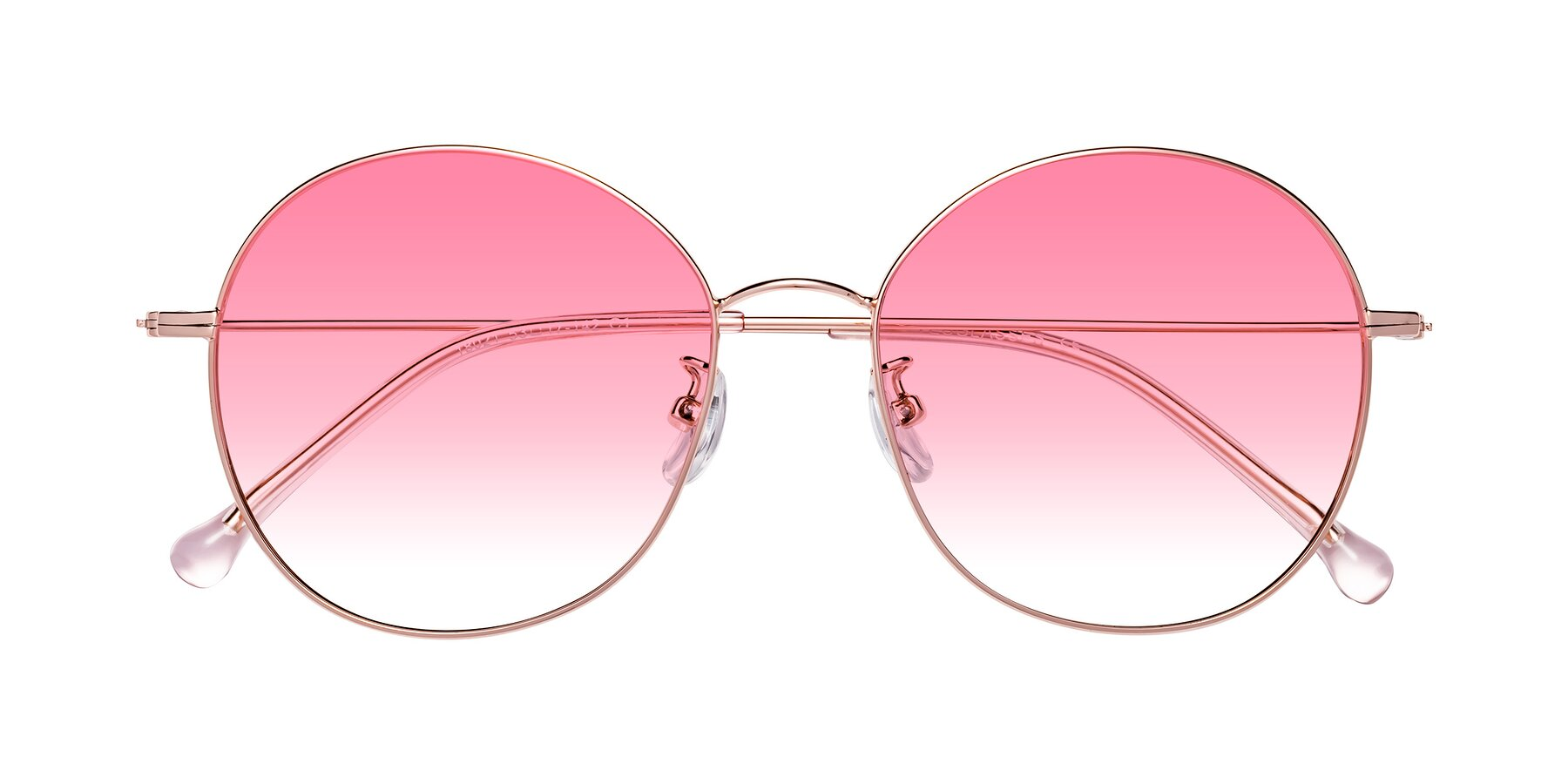 Folded Front of 18021 in Rose Gold with Pink Gradient Lenses