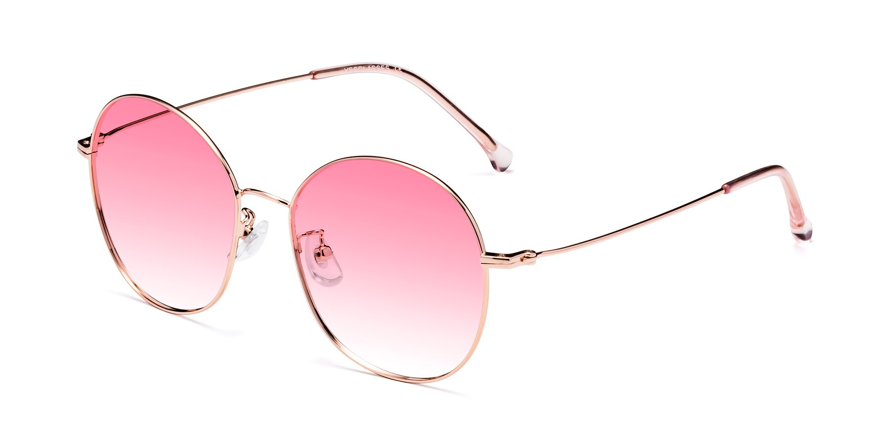Angle of 18021 in Rose Gold with Pink Gradient Lenses