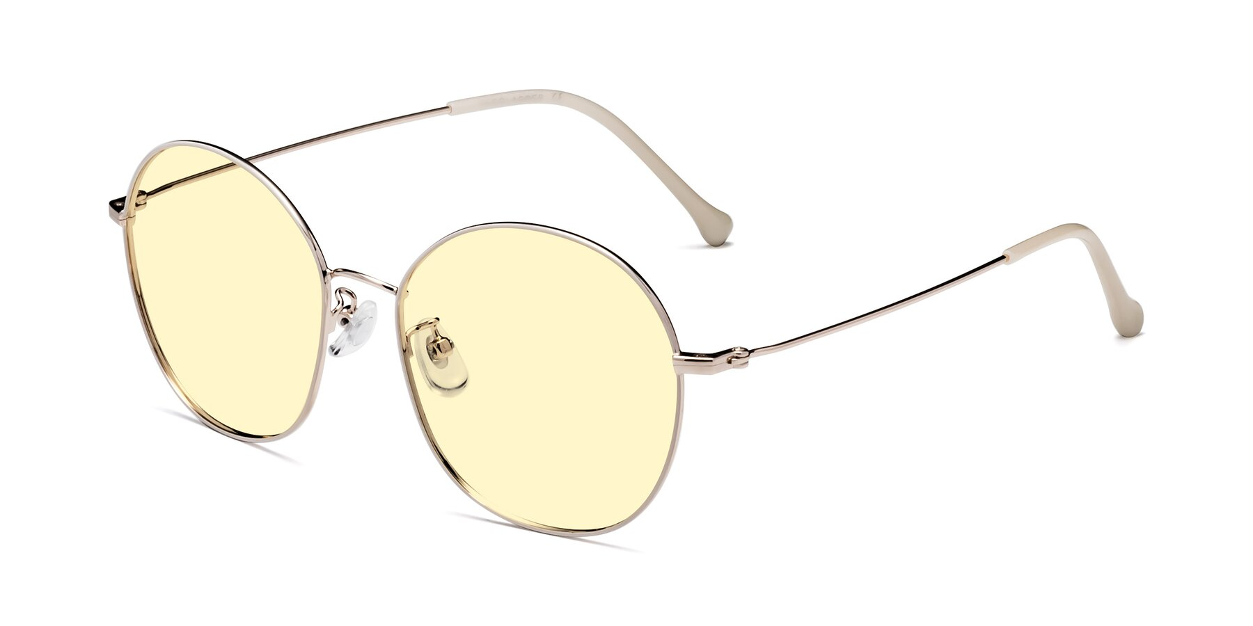 Angle of Dallas in White-Gold with Light Yellow Tinted Lenses