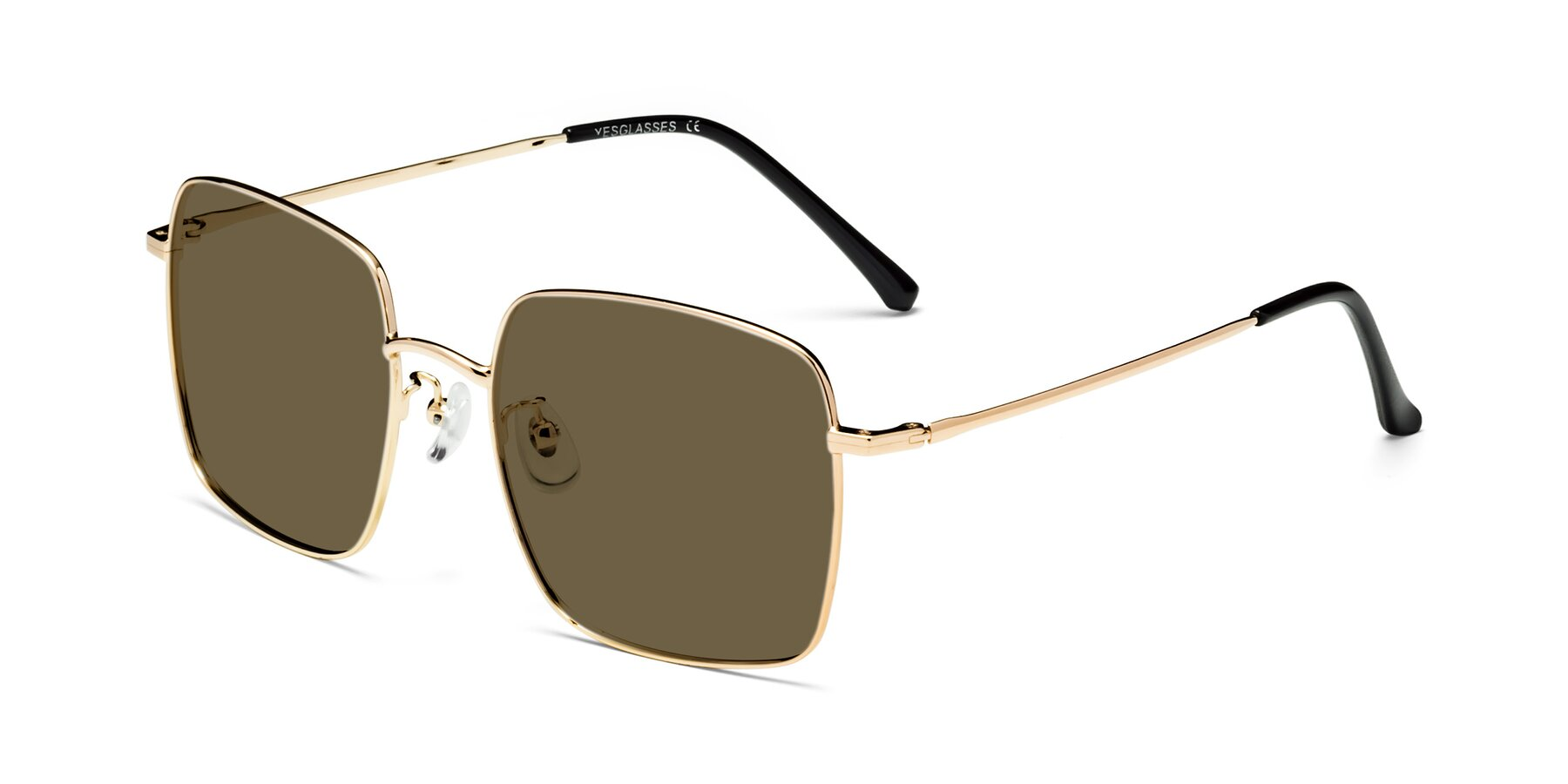Angle of 18008 in Gold with Brown Polarized Lenses