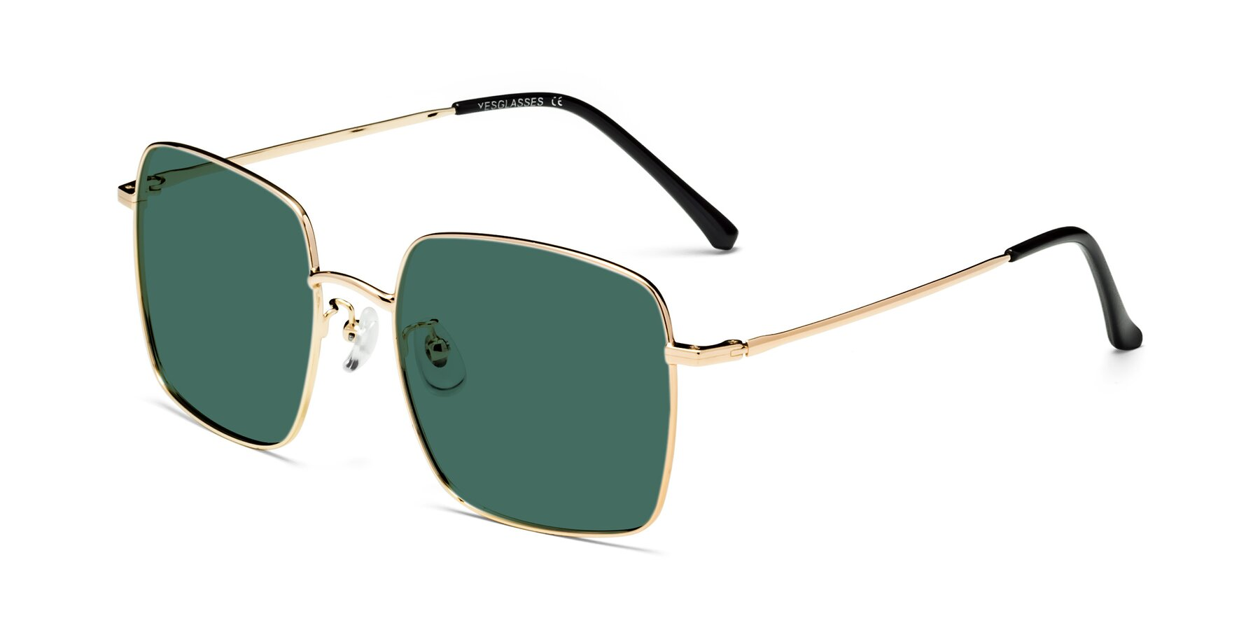 Angle of 18008 in Gold with Green Polarized Lenses