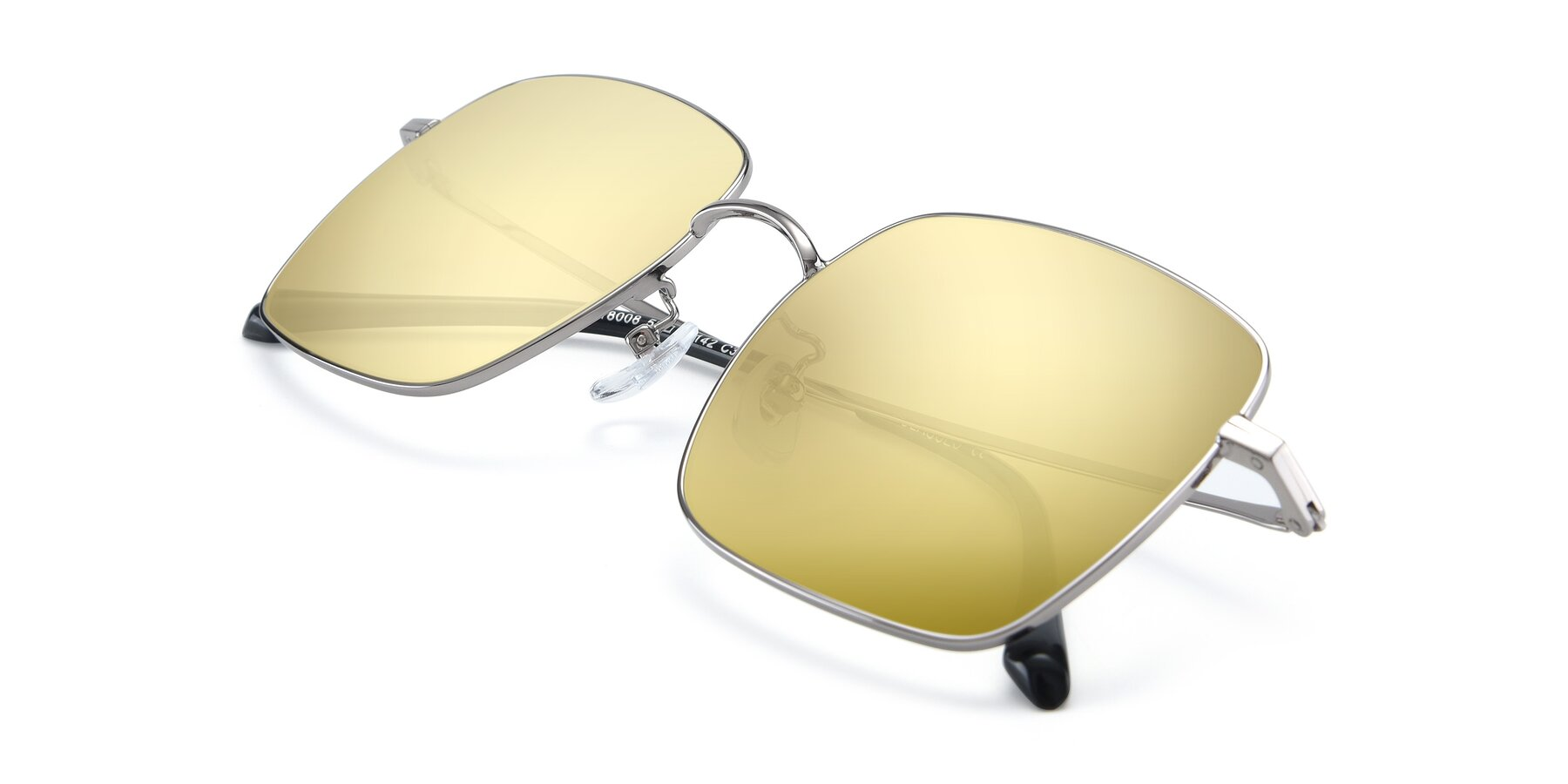 View of 18008 in Silver with Gold Mirrored Lenses