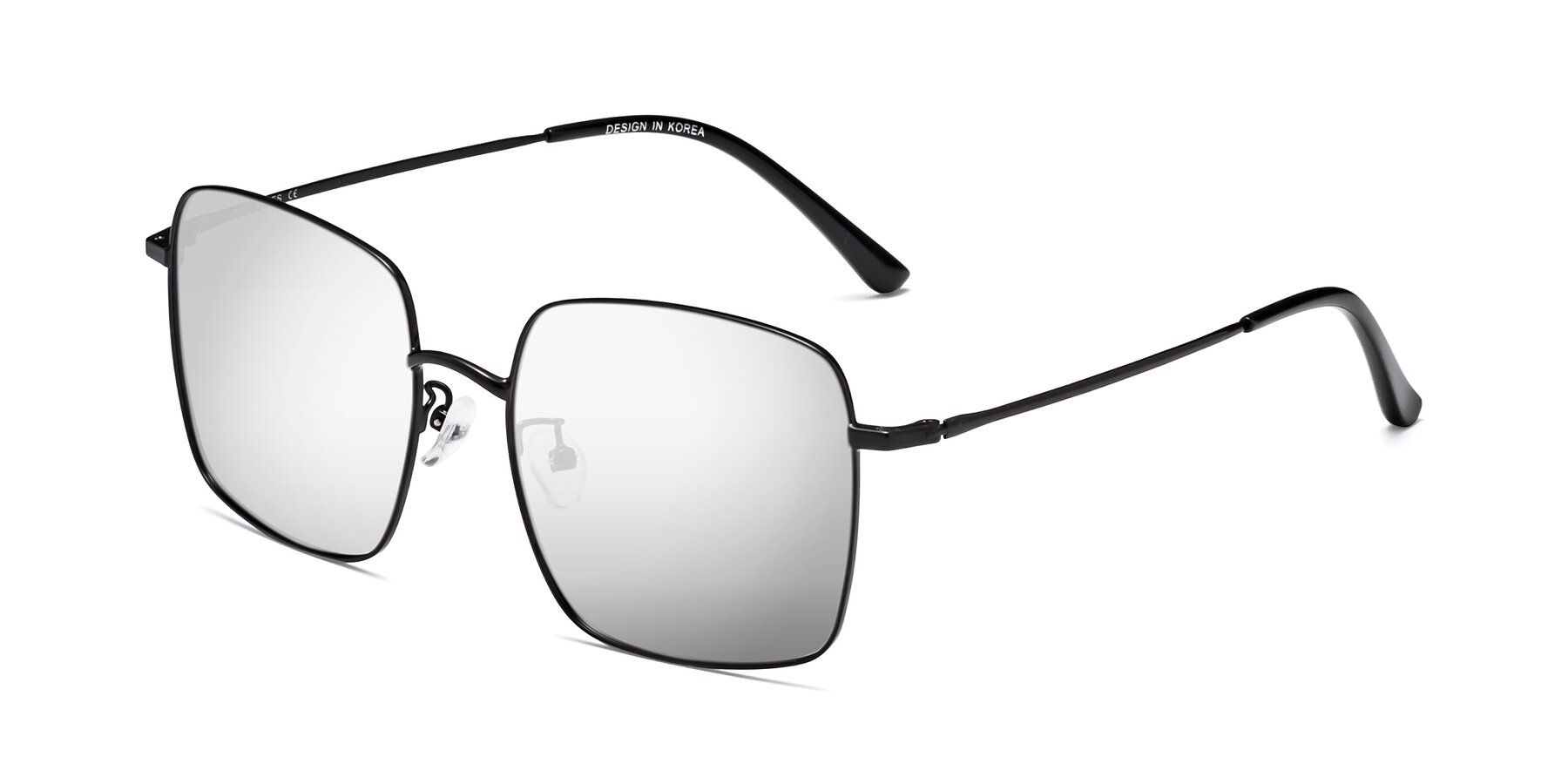 Angle of 18008 in Black with Silver Mirrored Lenses