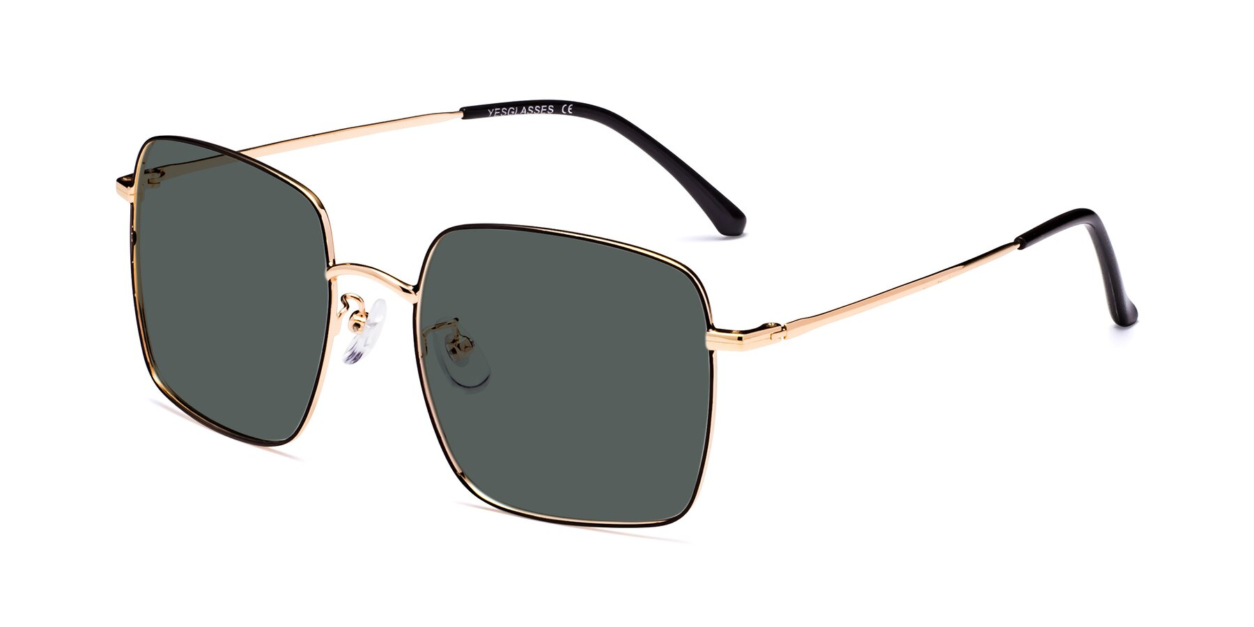 Angle of 18008 in Black-Gold with Gray Polarized Lenses