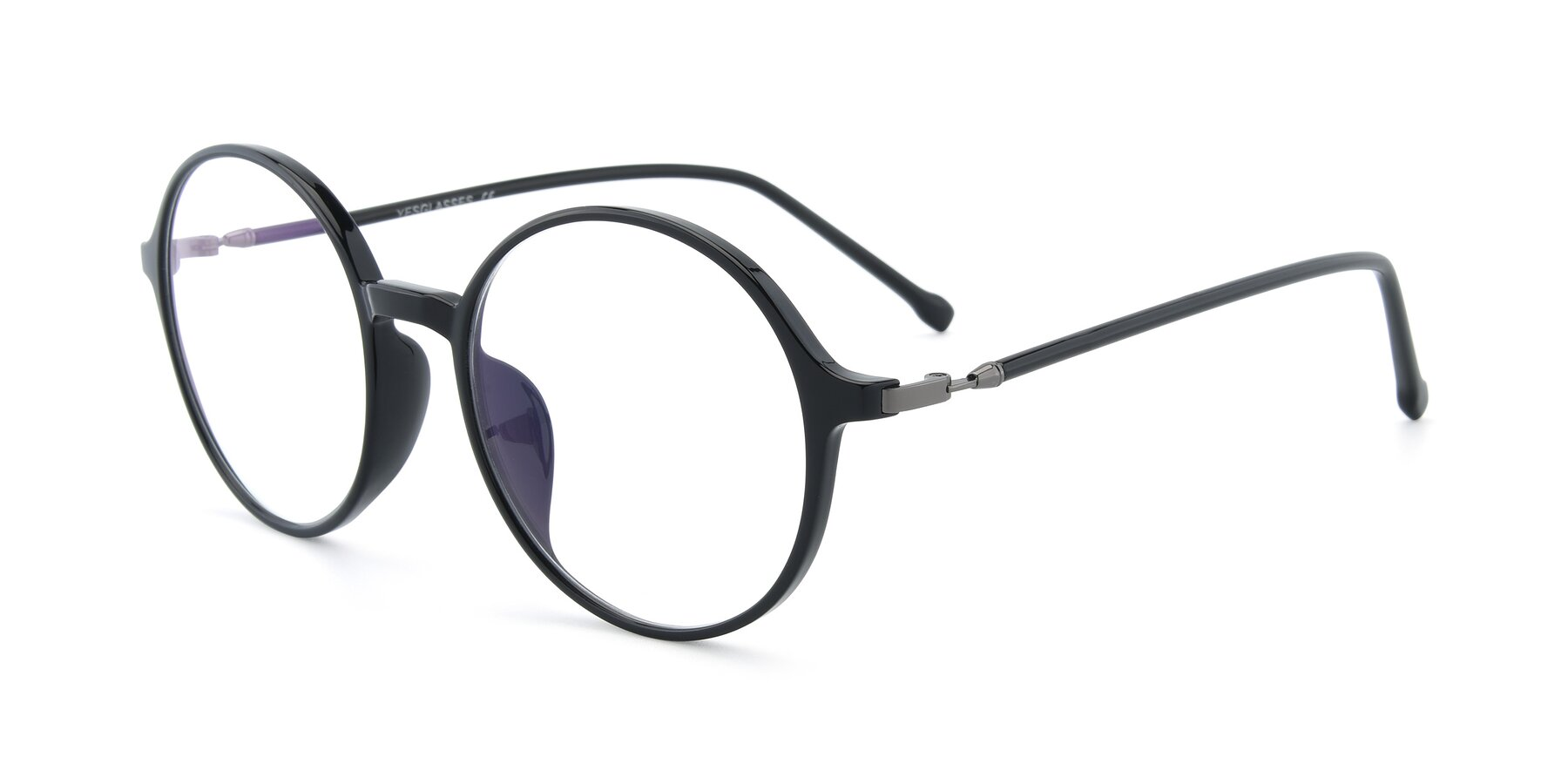 Angle of 12026 in Black with Clear Eyeglass Lenses