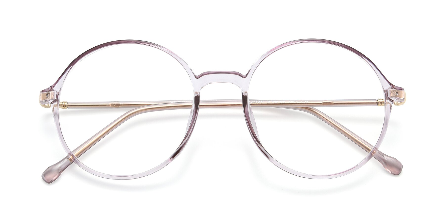 Folded Front of 12026 in Amber with Clear Eyeglass Lenses