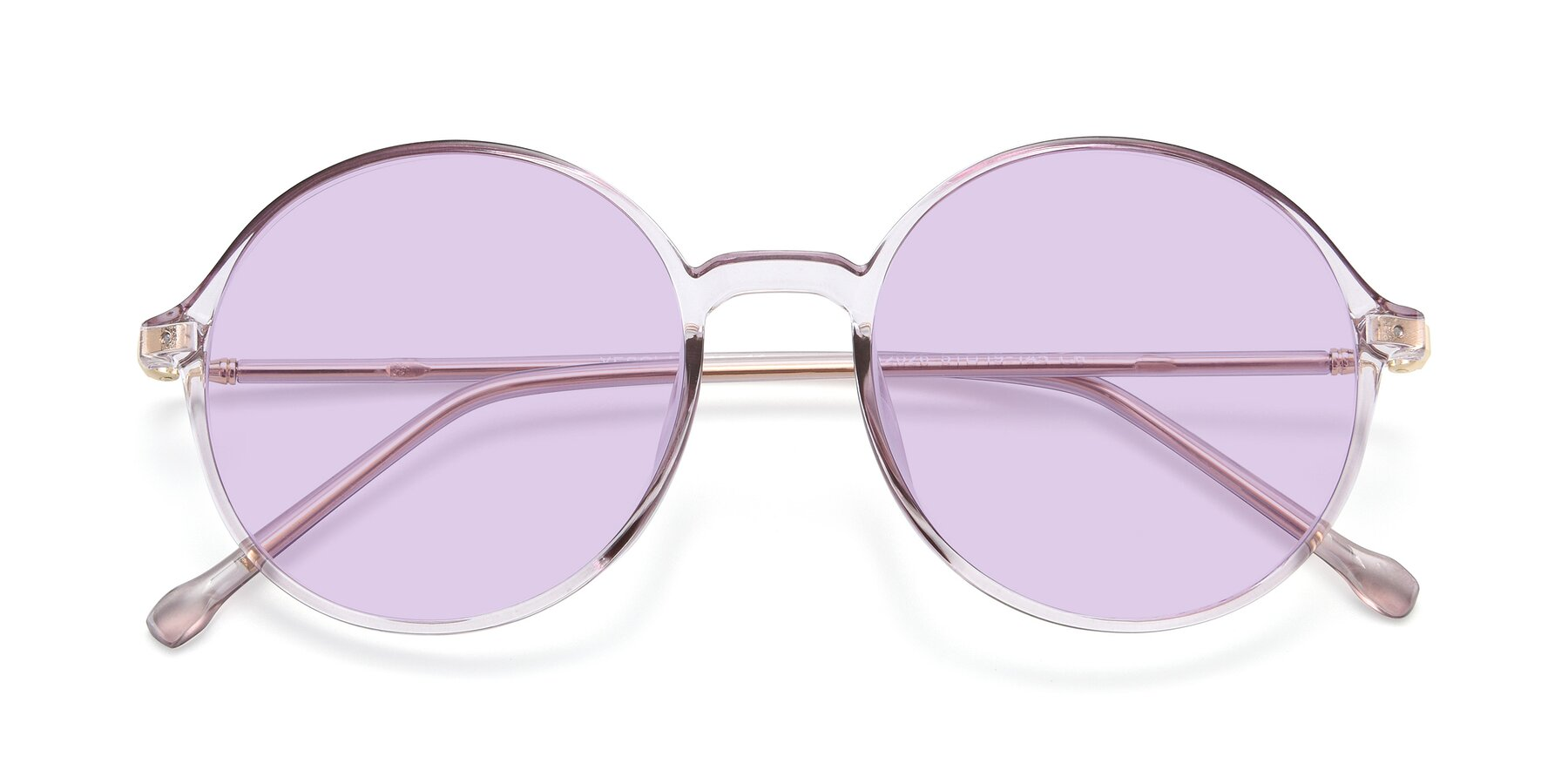 Folded Front of 12026 in Amber with Light Purple Tinted Lenses