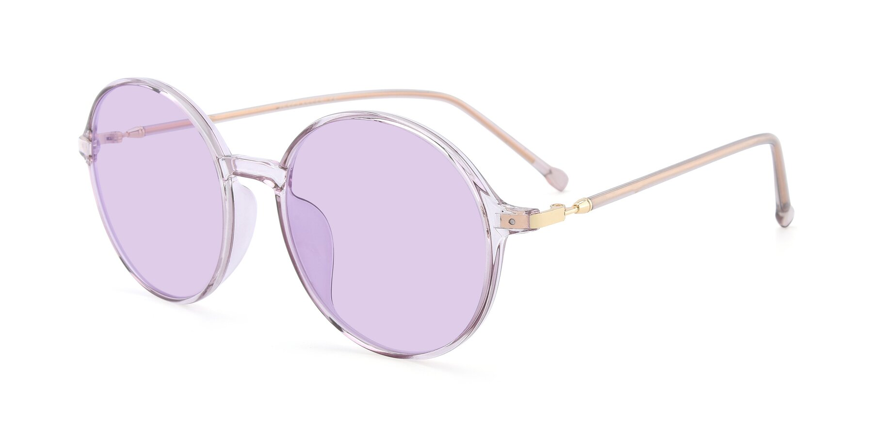 Angle of 12026 in Amber with Light Purple Tinted Lenses