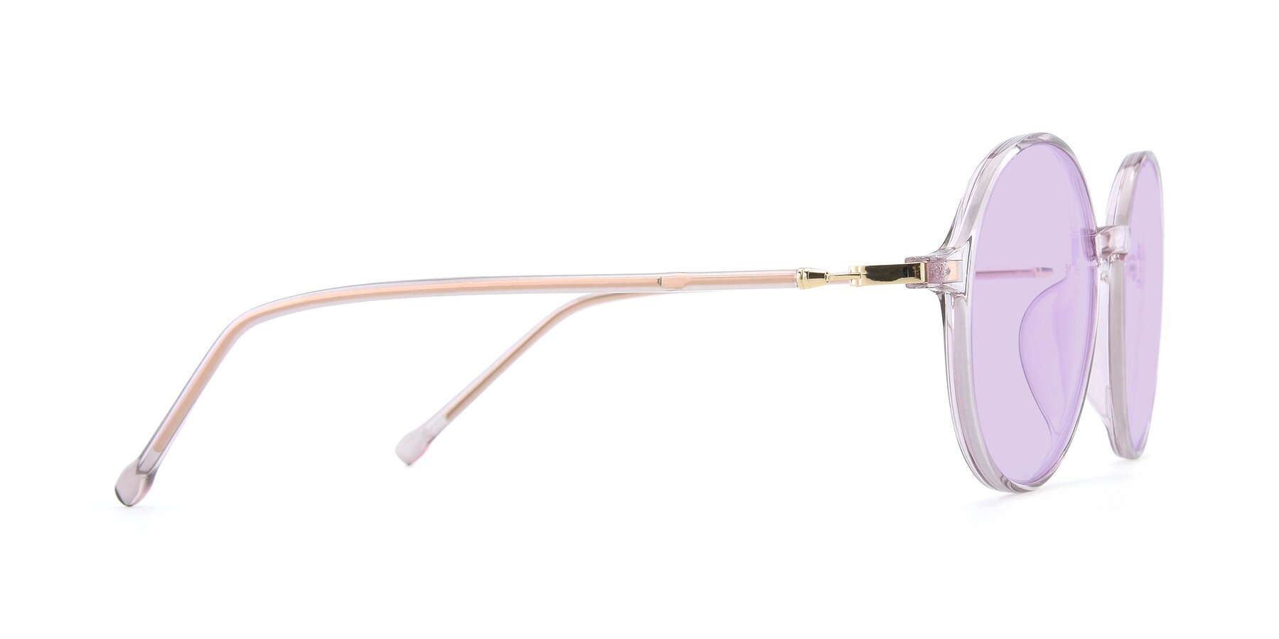 Side of 12026 in Amber with Light Purple Tinted Lenses