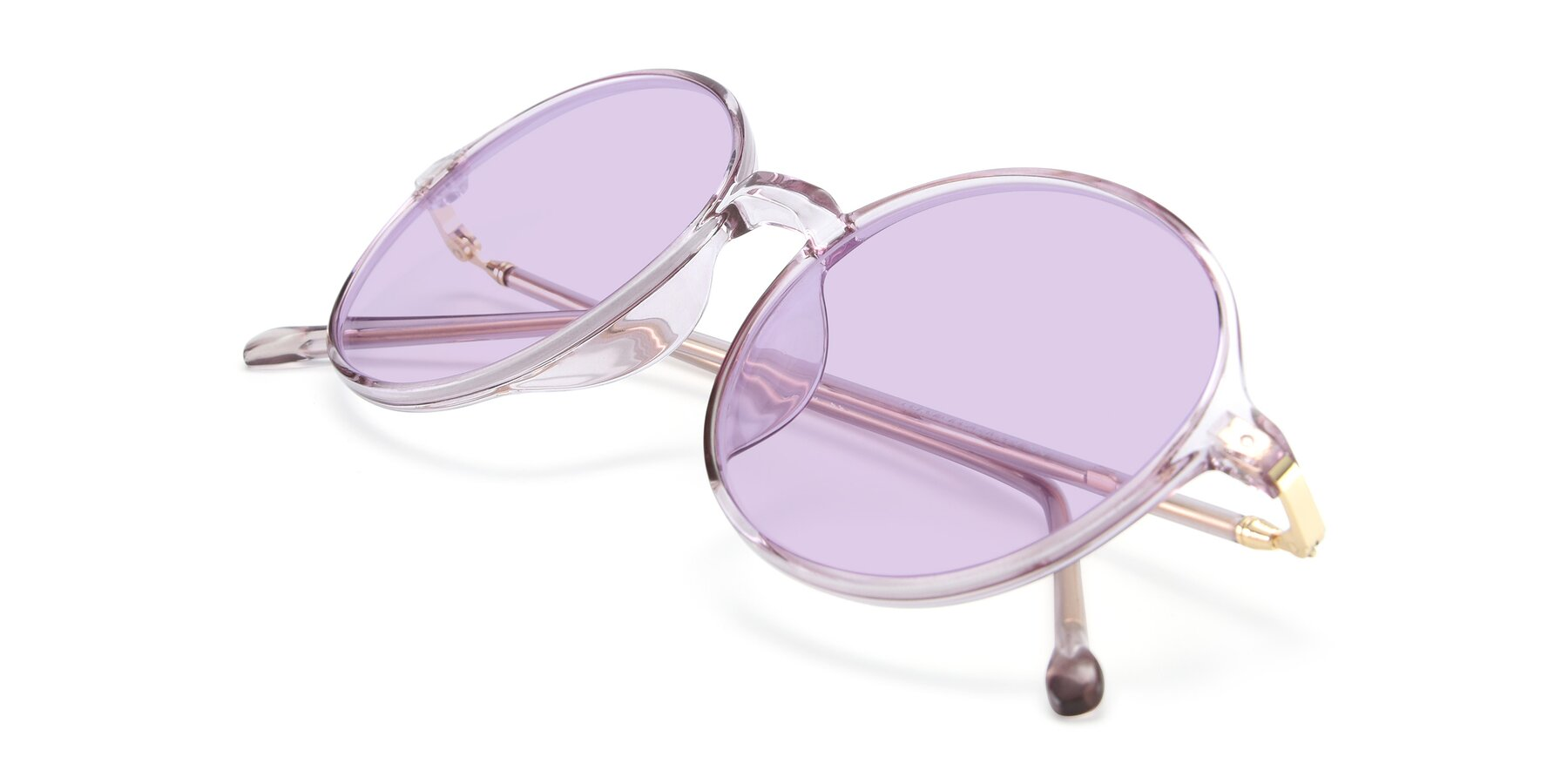 View of 12026 in Amber with Light Purple Tinted Lenses
