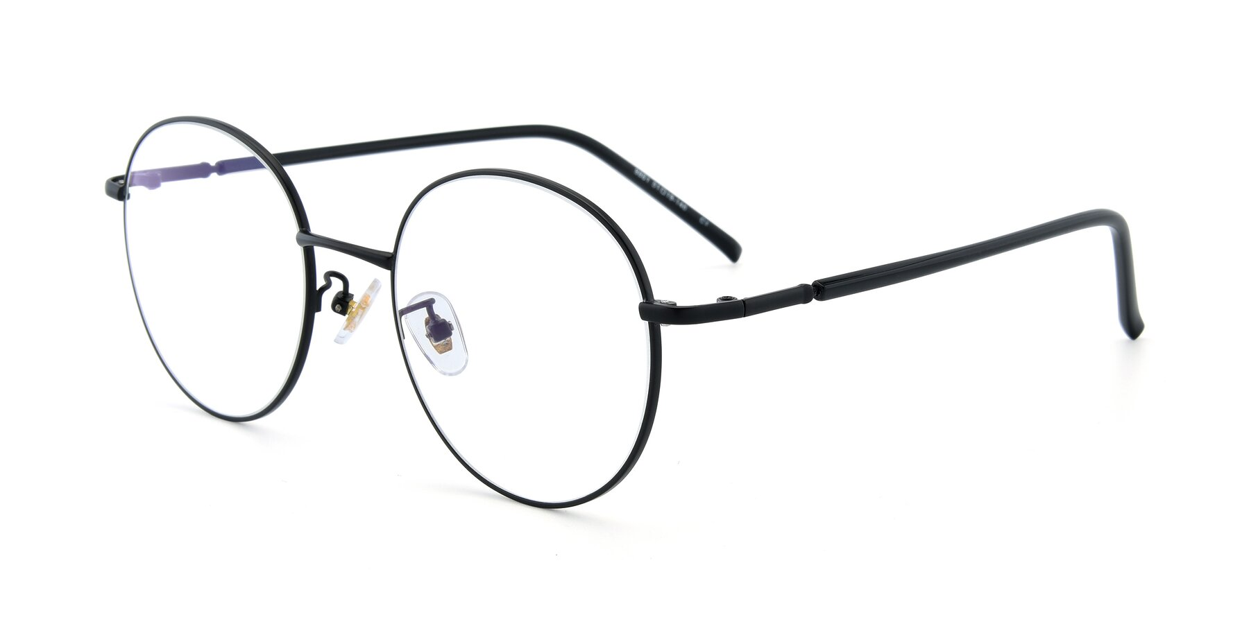 Angle of 9861 in Black with Clear Eyeglass Lenses