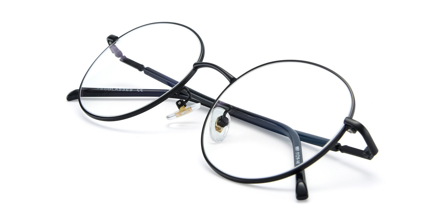 View of 9861 in Black with Clear Eyeglass Lenses