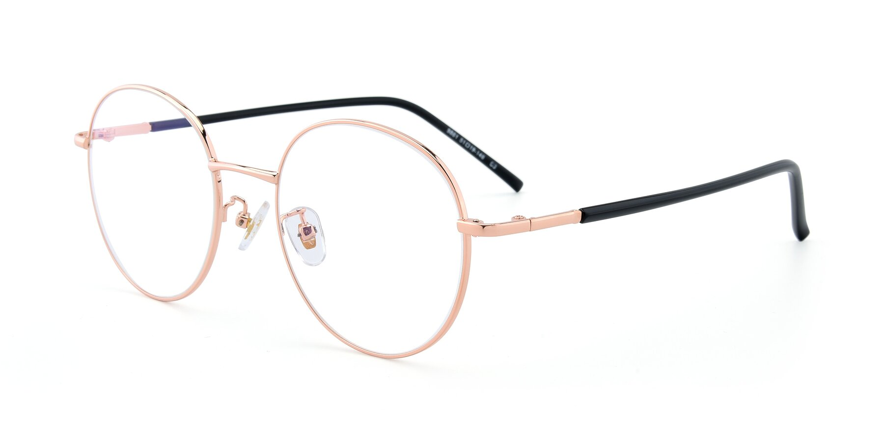 Angle of 9861 in Rose Gold with Clear Eyeglass Lenses