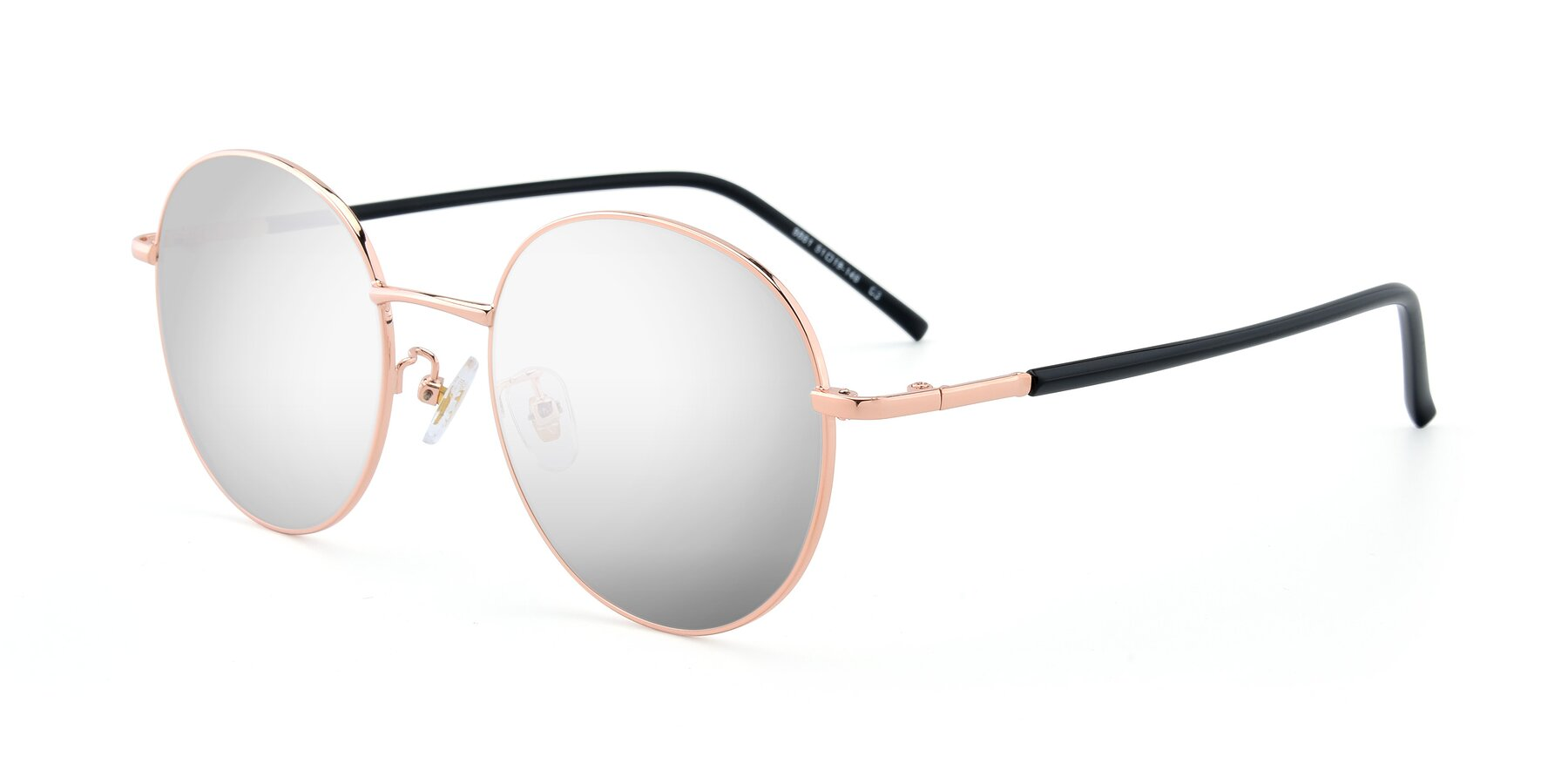 Angle of 9861 in Rose Gold with Silver Mirrored Lenses
