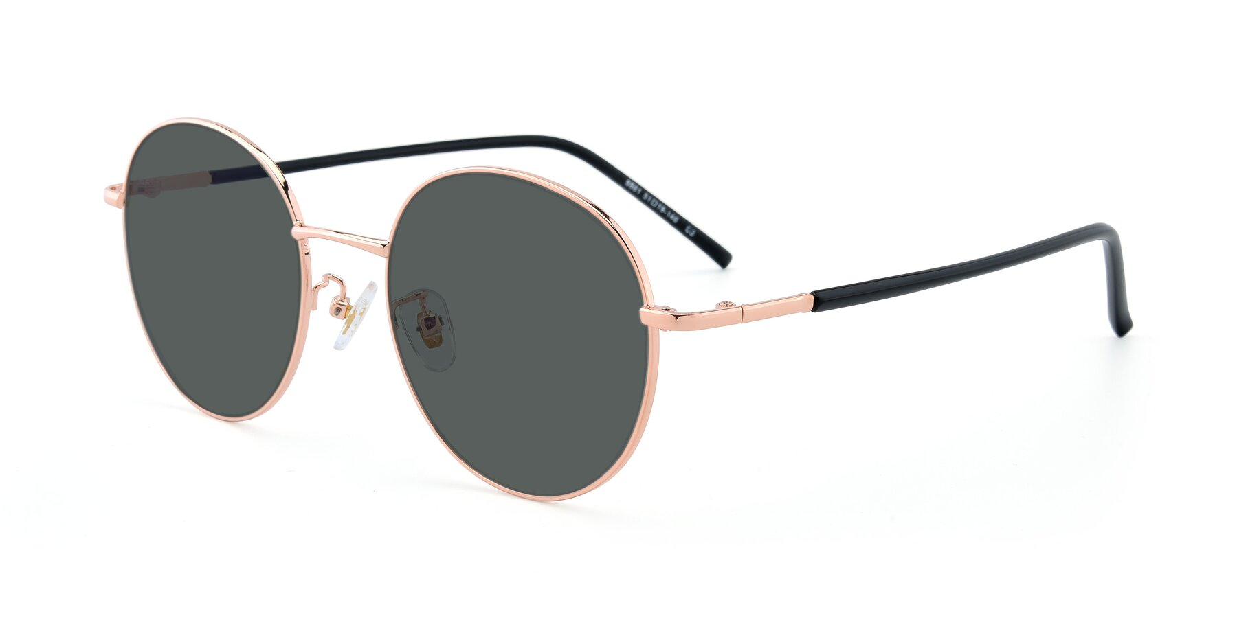 Angle of 9861 in Rose Gold with Gray Polarized Lenses