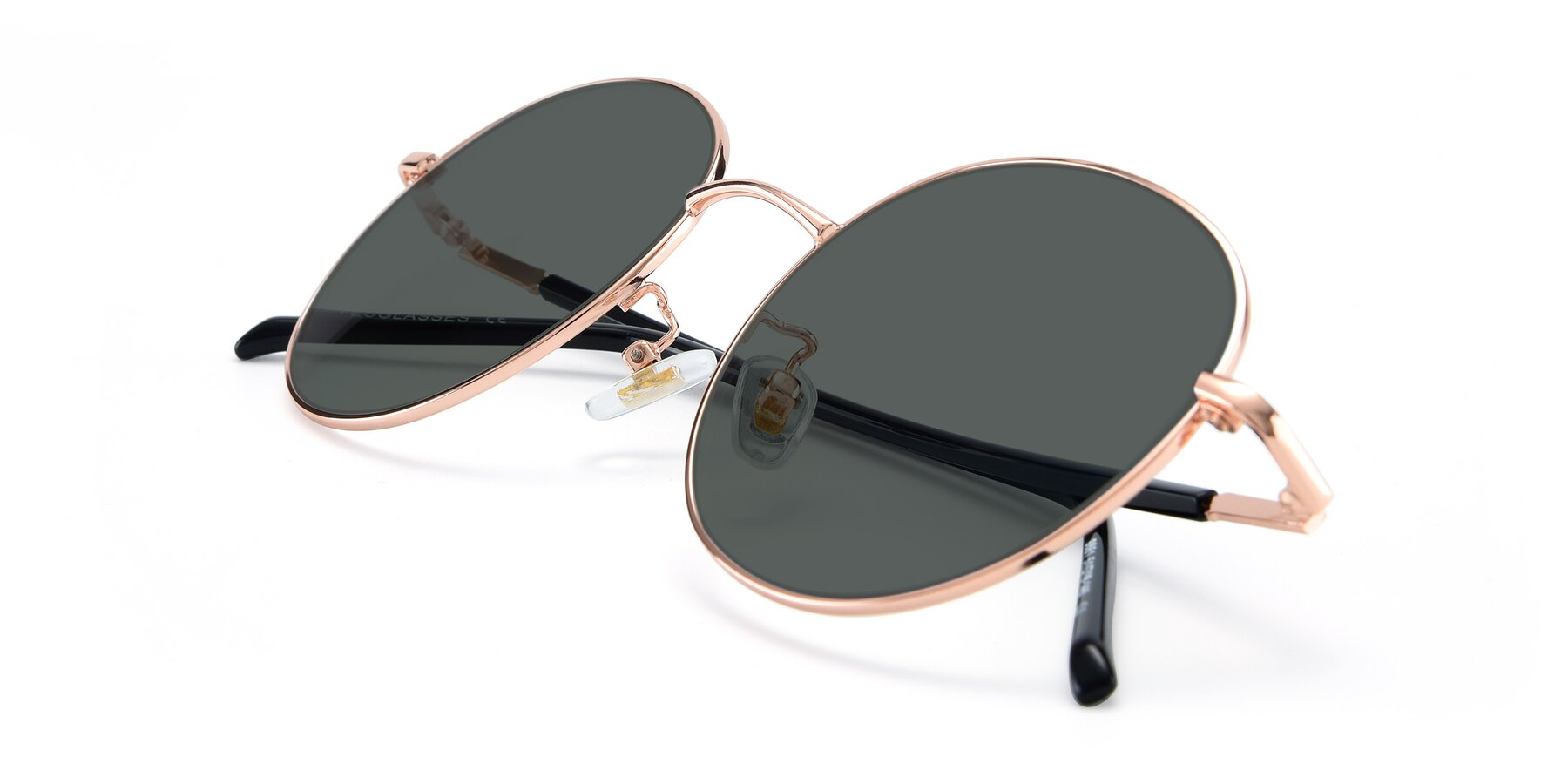 View of 9861 in Rose Gold with Gray Polarized Lenses