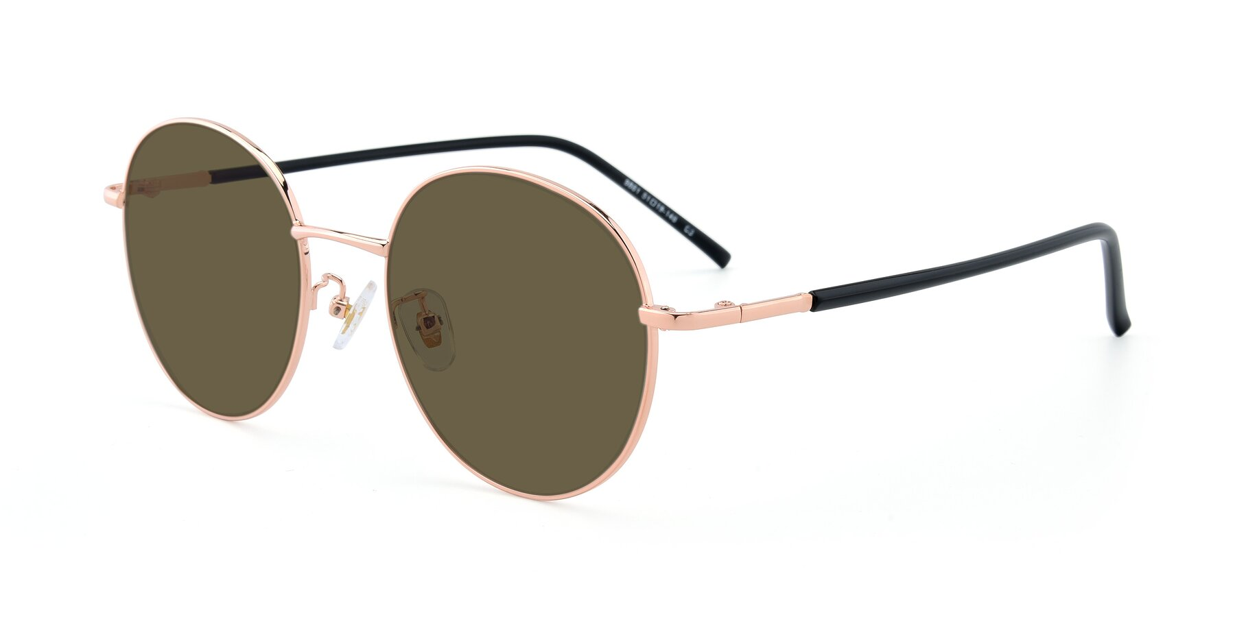 Angle of 9861 in Rose Gold with Brown Polarized Lenses