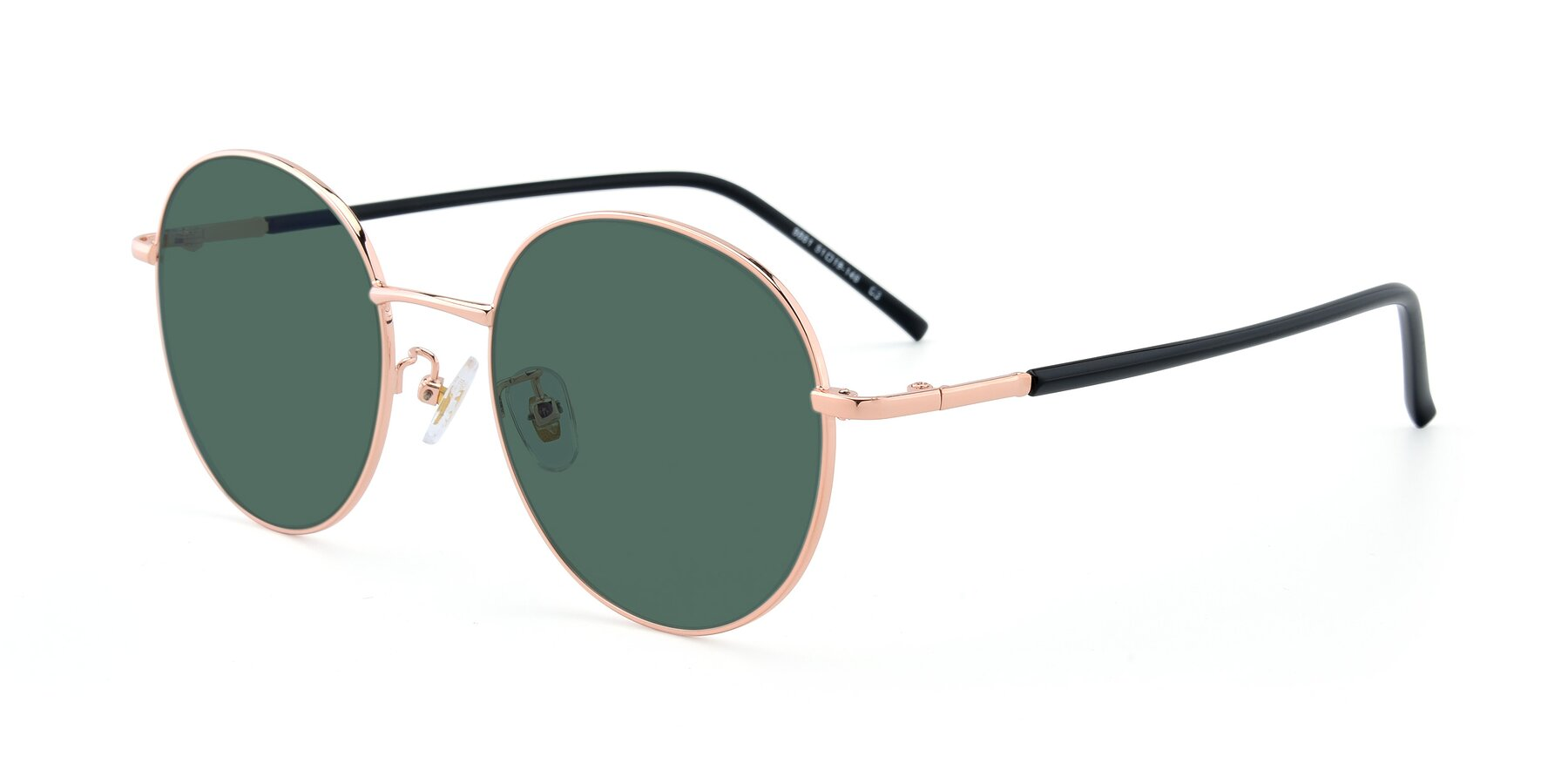 Angle of 9861 in Rose Gold with Green Polarized Lenses