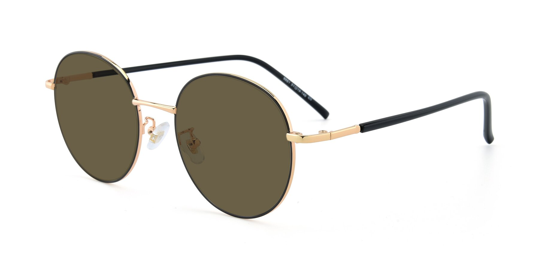 Angle of 9861 in Black-Gold with Brown Polarized Lenses