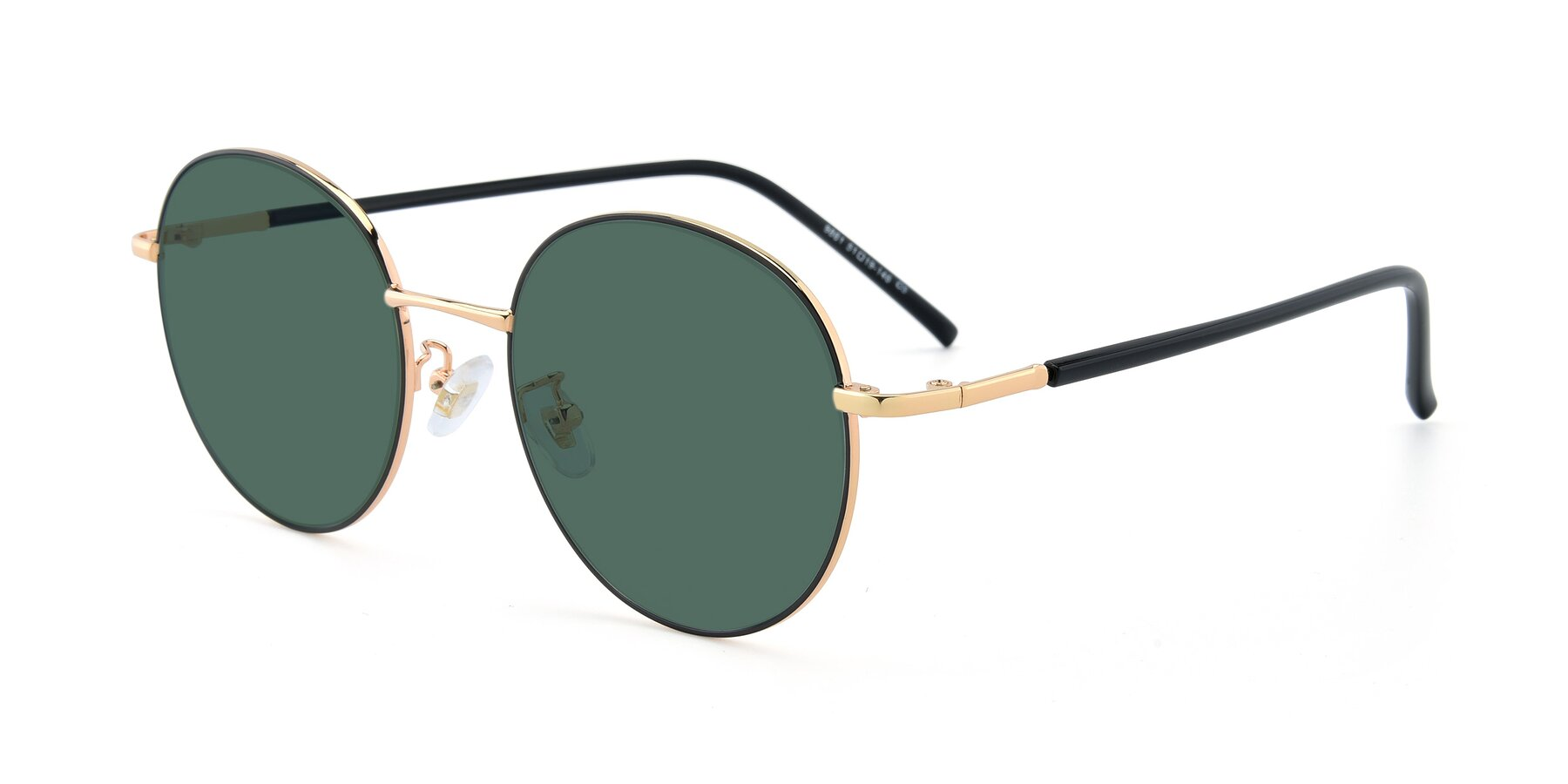 Angle of 9861 in Black-Gold with Green Polarized Lenses