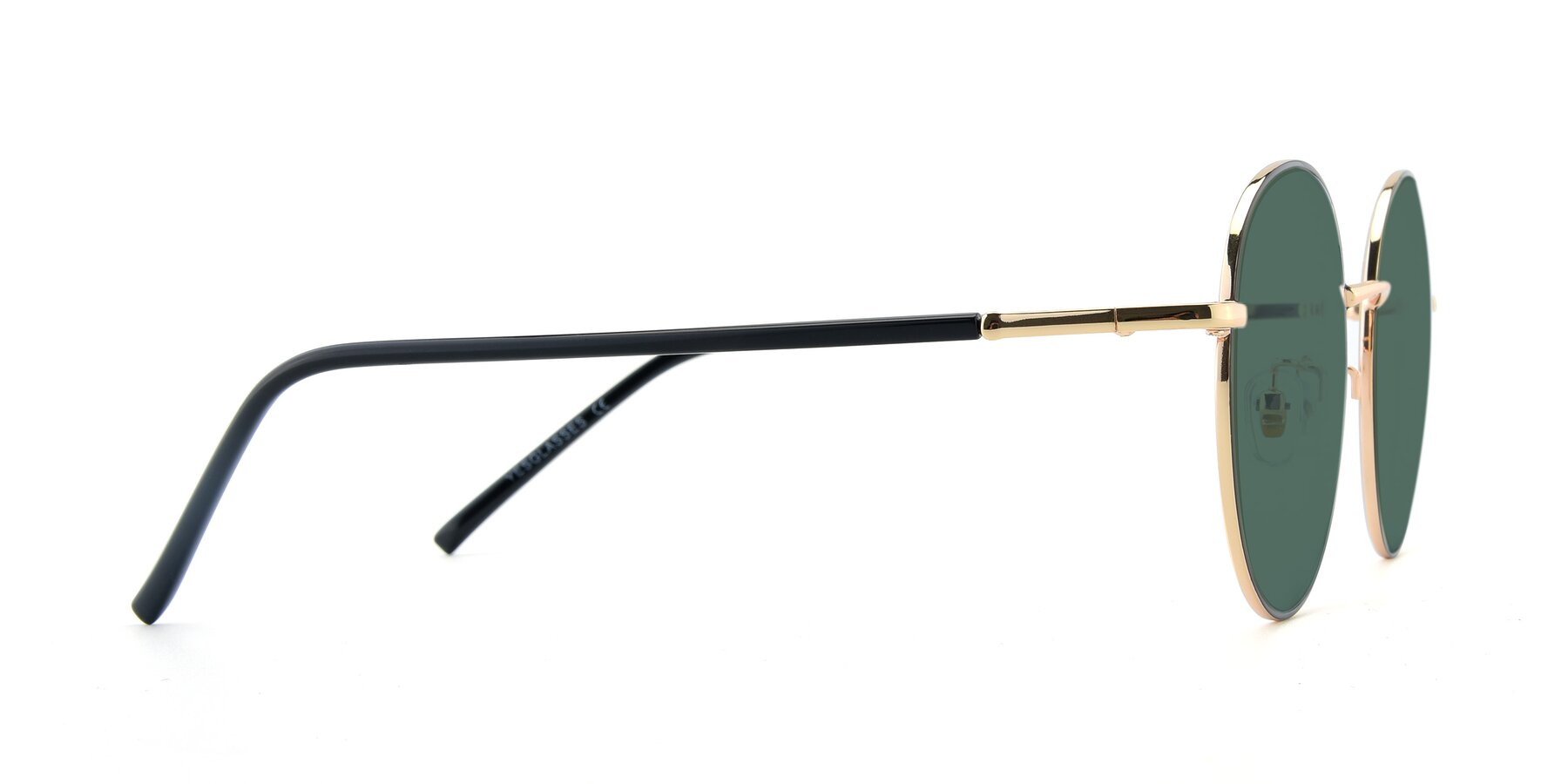 Side of 9861 in Black-Gold with Green Polarized Lenses