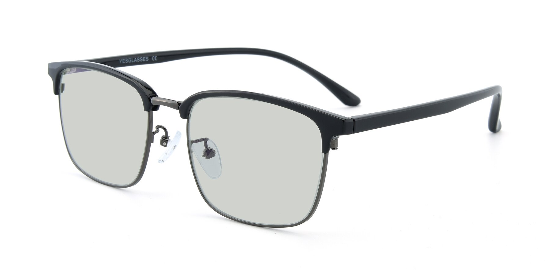 Angle of 00340 in Black-Gun with Light Green Tinted Lenses