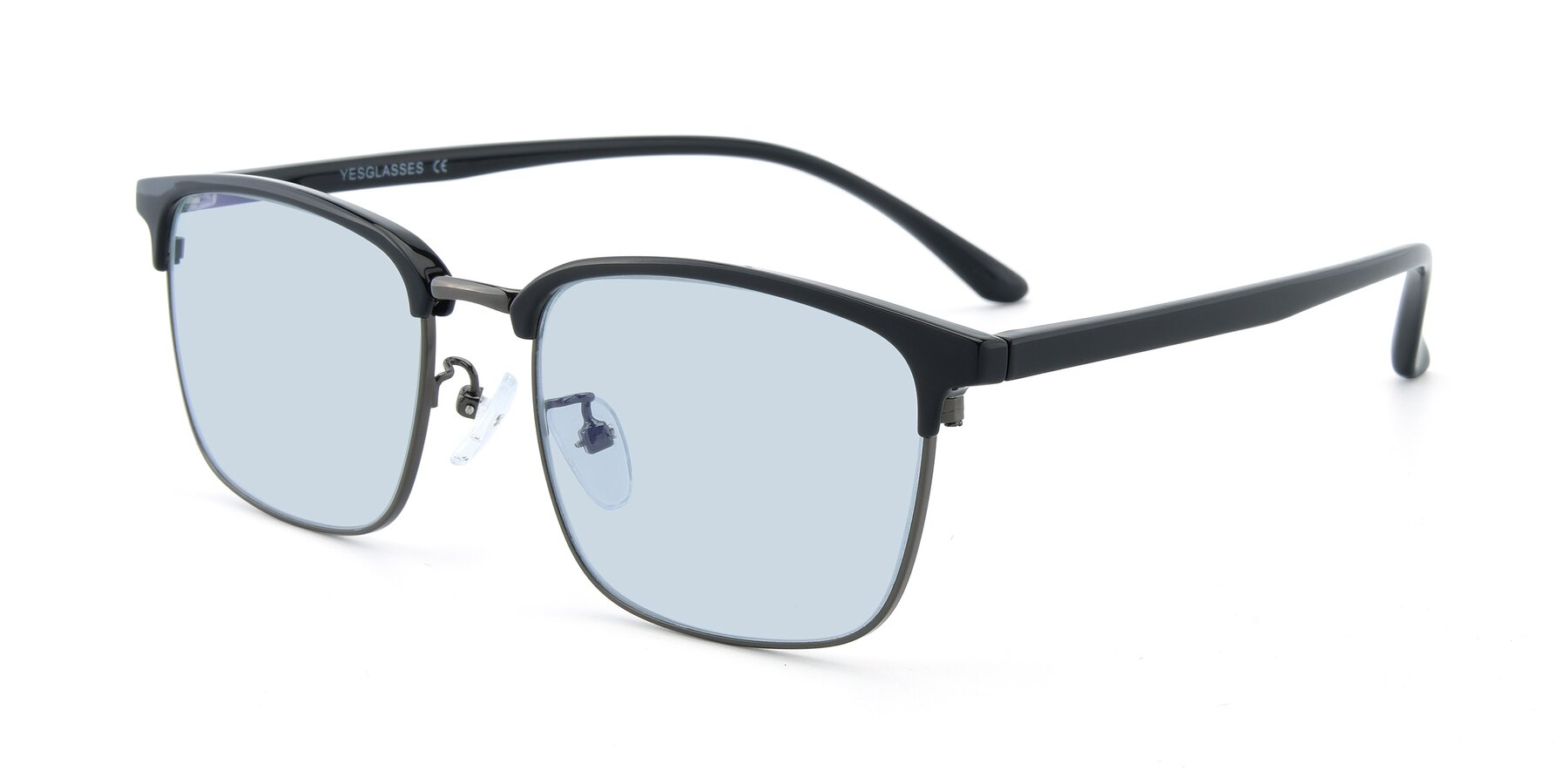 Angle of 00340 in Black-Gun with Light Blue Tinted Lenses