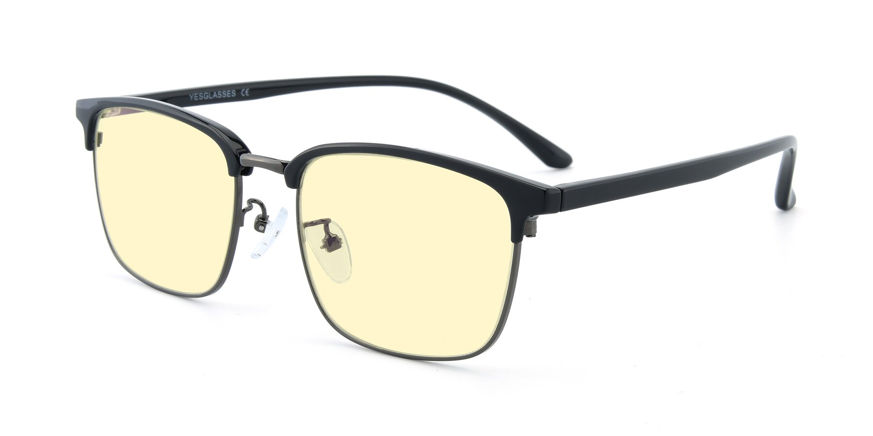 Angle of 00340 in Black-Gun with Light Yellow Tinted Lenses