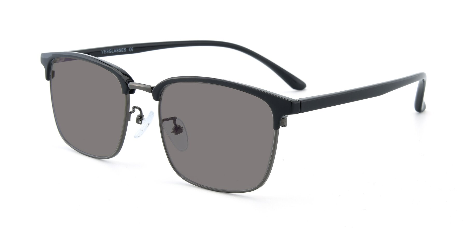 Angle of 00340 in Black-Gun with Medium Gray Tinted Lenses