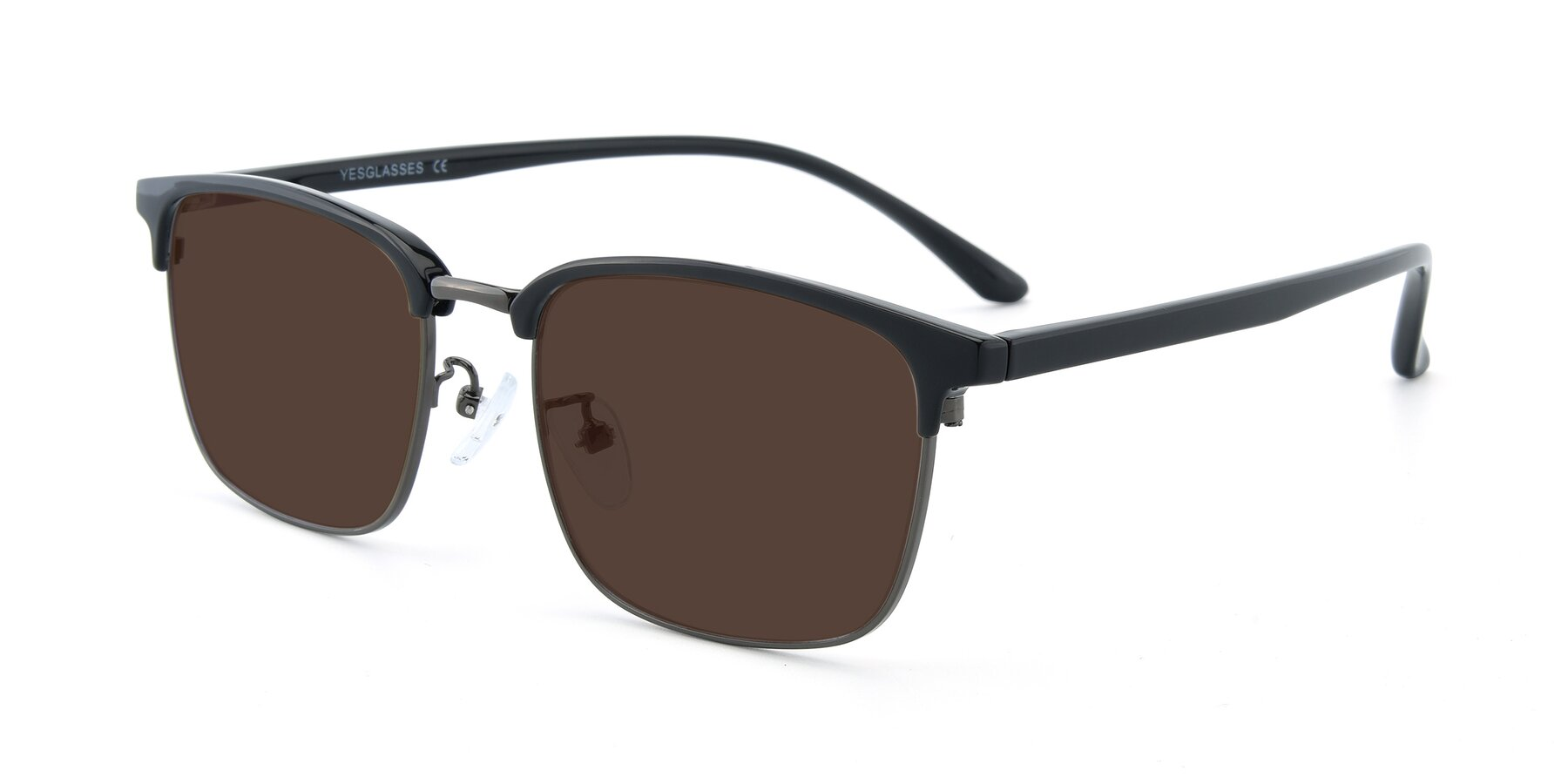 Angle of 00340 in Black-Gun with Brown Tinted Lenses