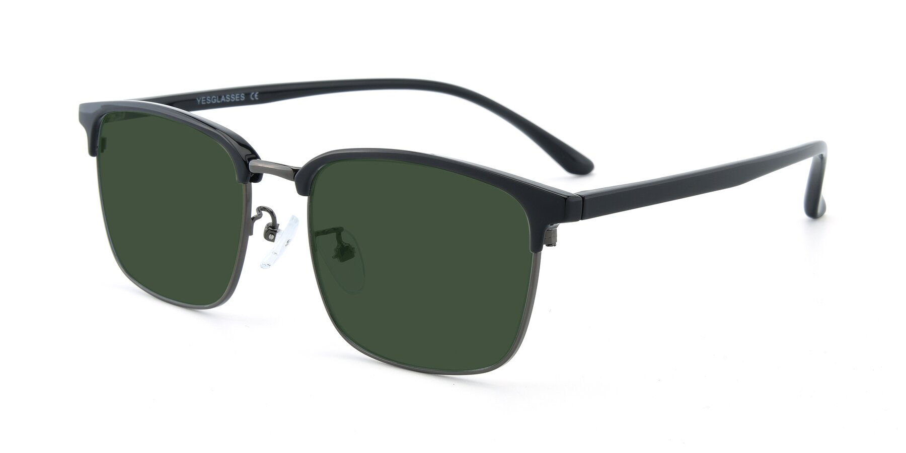 Angle of 00340 in Black-Gun with Green Tinted Lenses