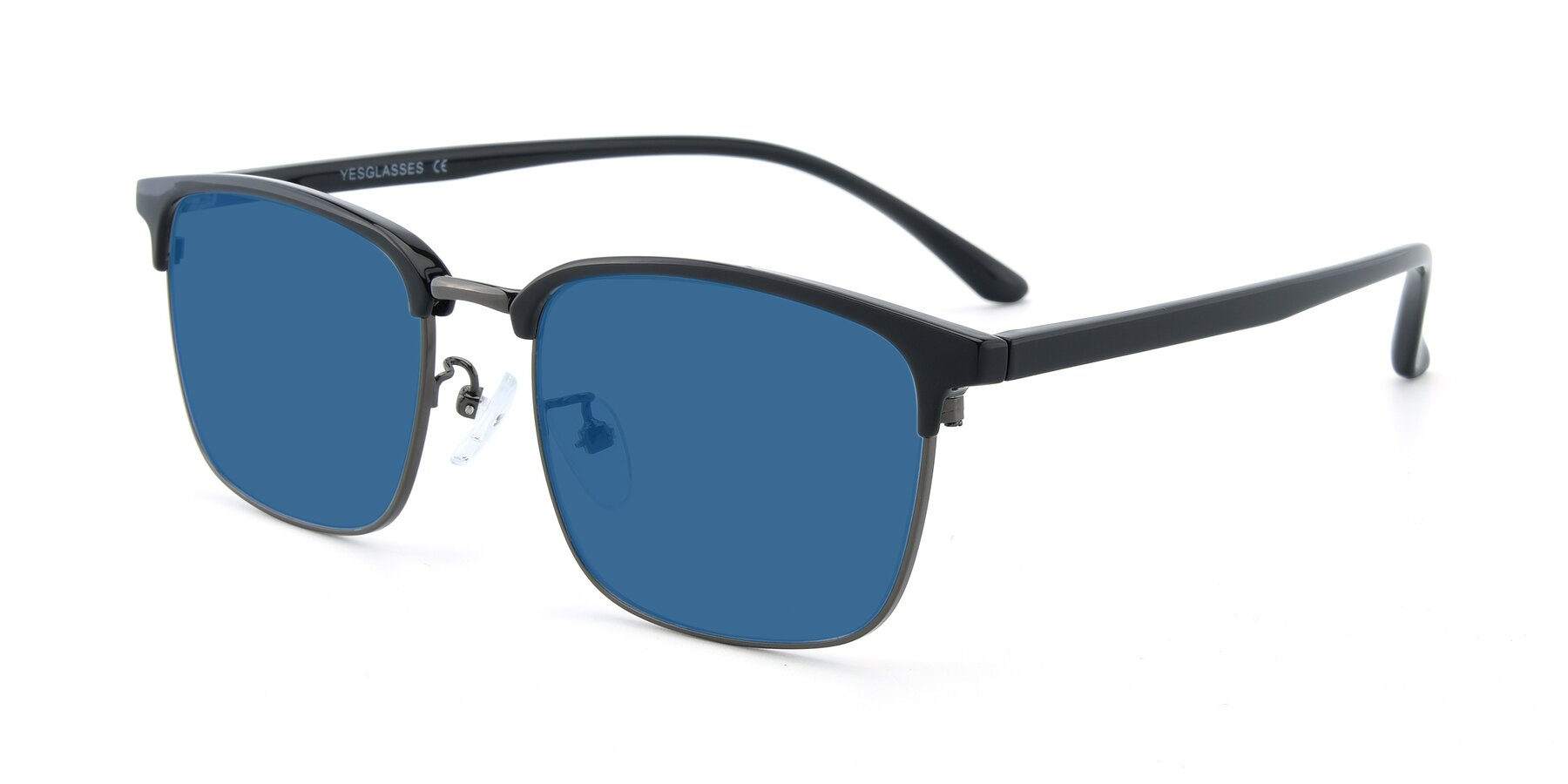 Angle of 00340 in Black-Gun with Blue Tinted Lenses