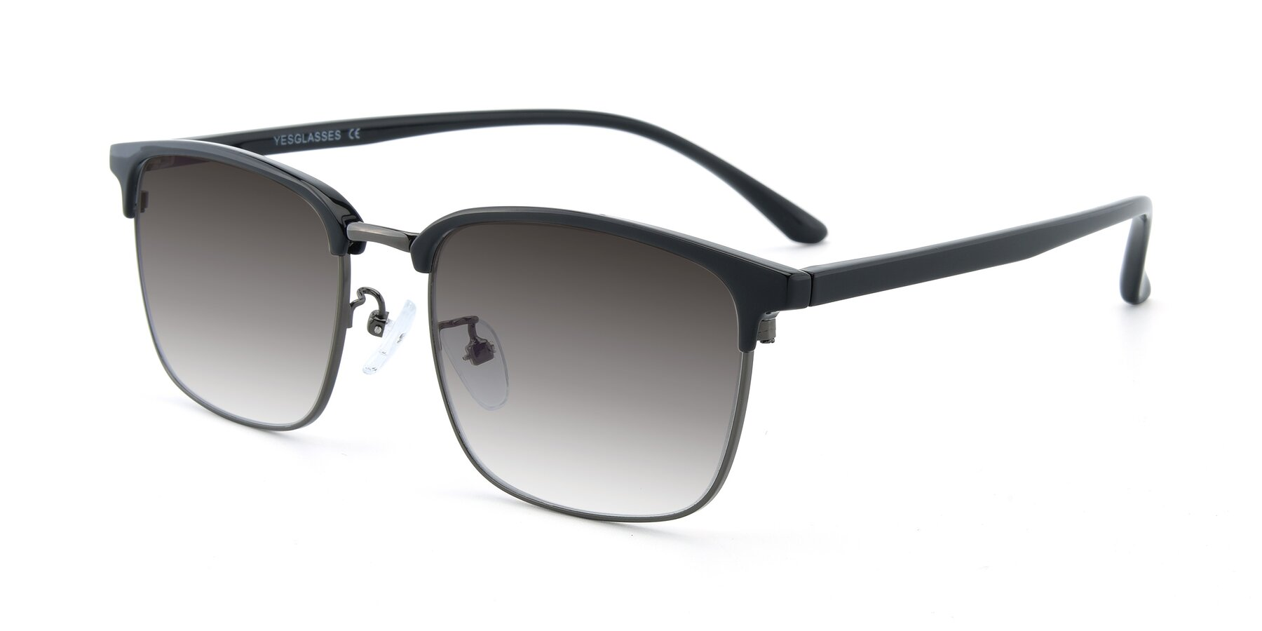 Angle of 00340 in Black-Gun with Gray Gradient Lenses