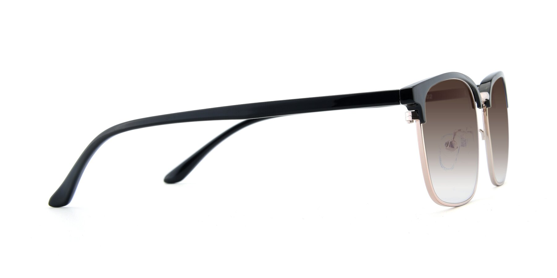 Side of 00340 in Black-Gold with Brown Gradient Lenses
