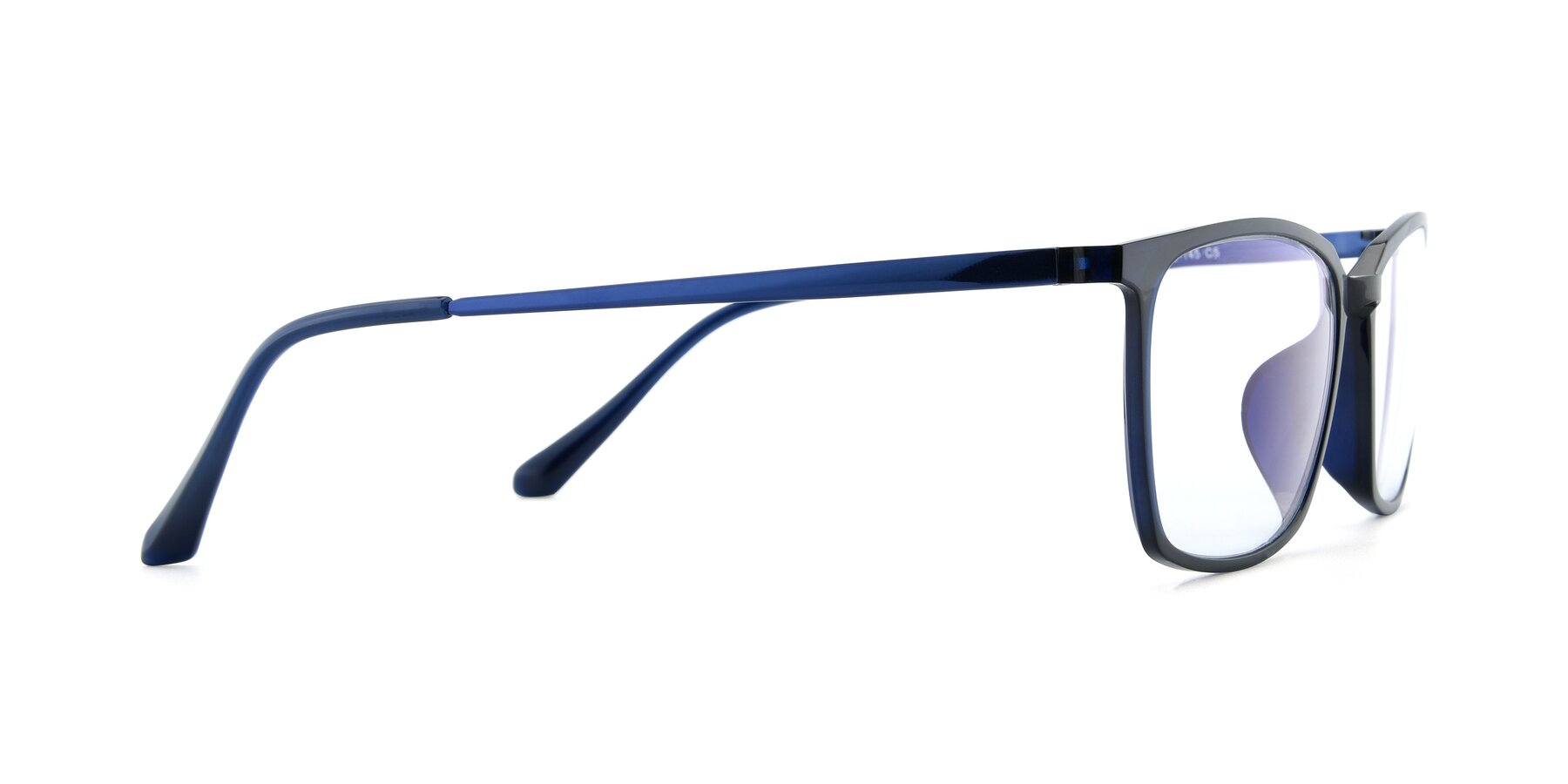 Side of XC-5009 in Blue with Clear Blue Light Blocking Lenses