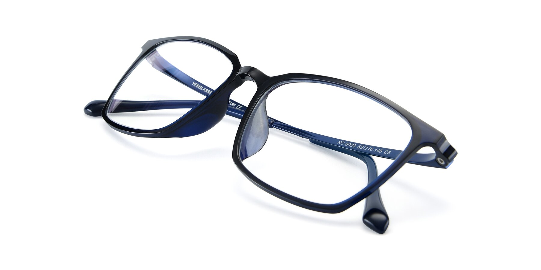 View of XC-5009 in Blue with Clear Blue Light Blocking Lenses