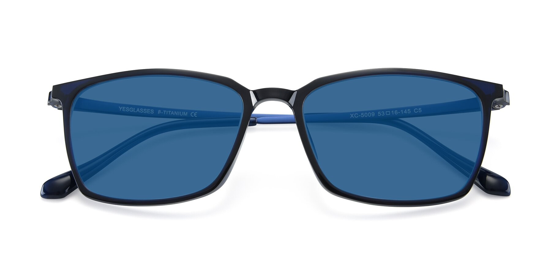 Folded Front of XC-5009 in Blue with Blue Tinted Lenses