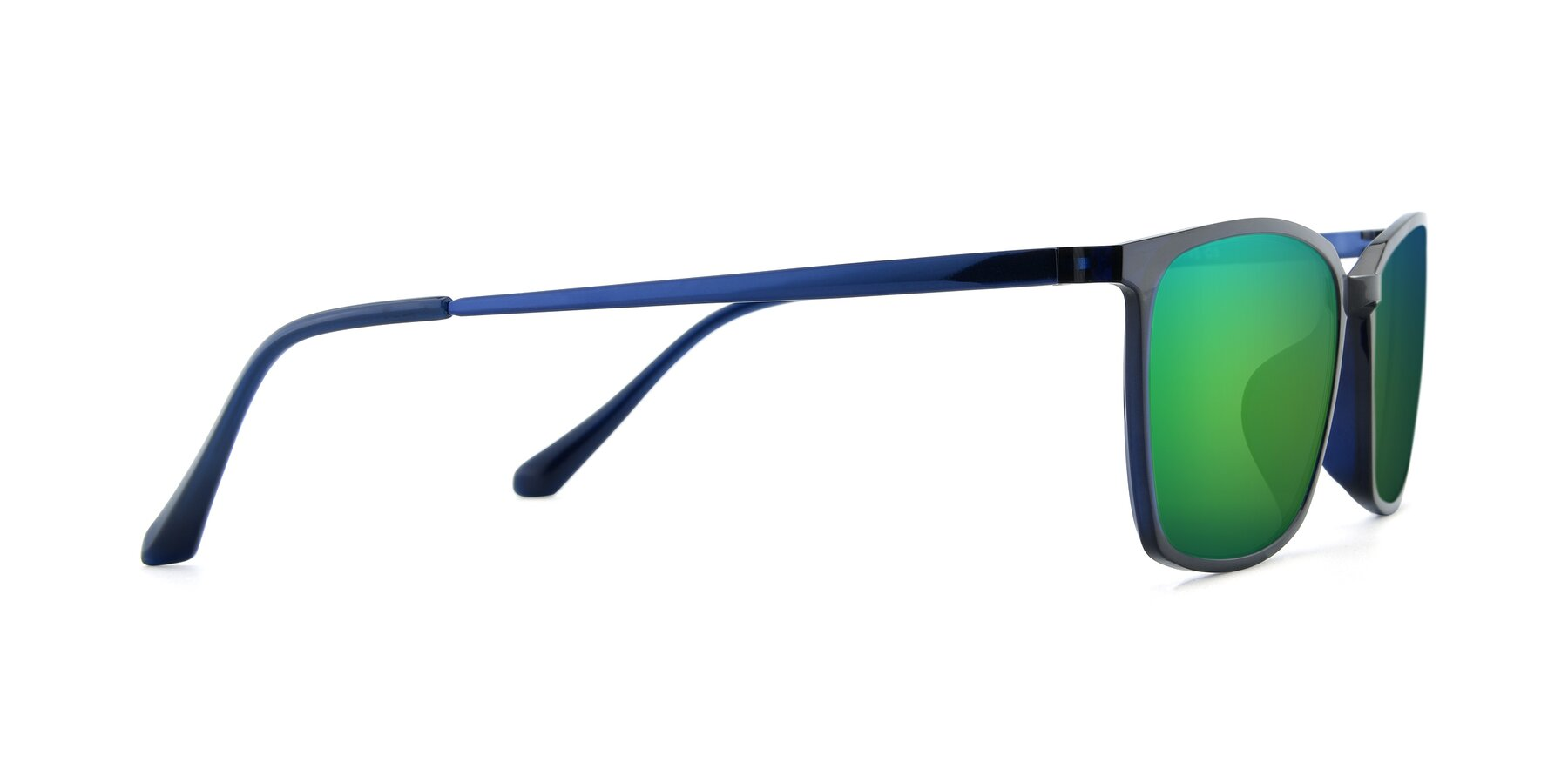 Side of XC-5009 in Blue with Green Mirrored Lenses