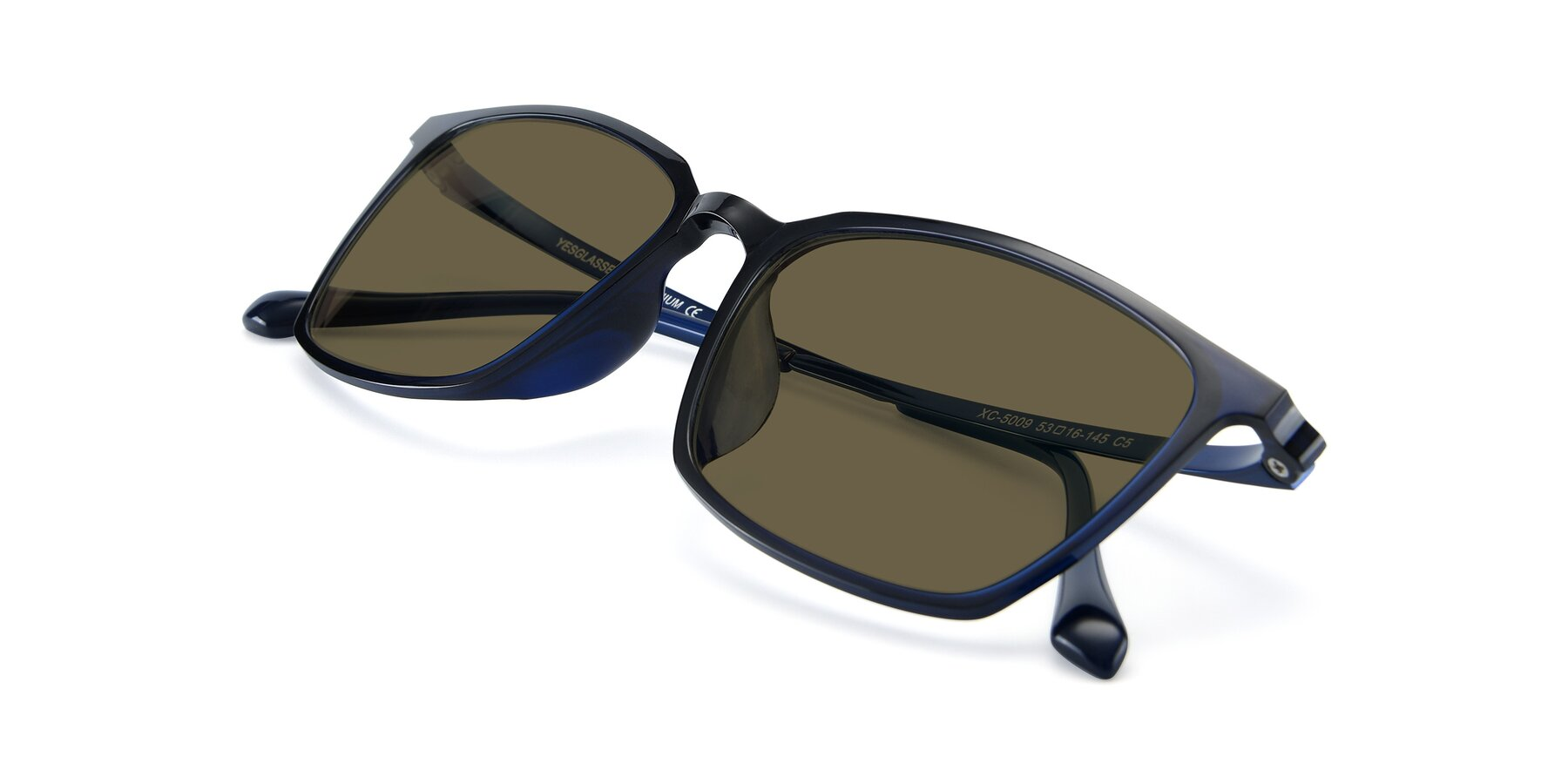 View of XC-5009 in Blue with Brown Polarized Lenses