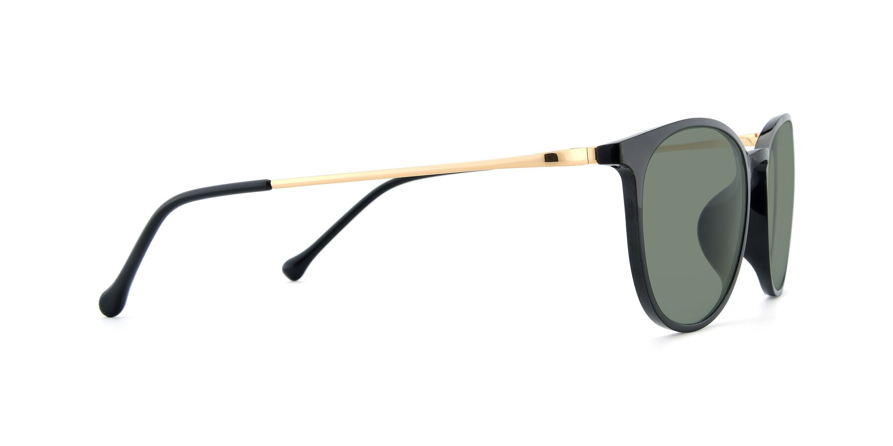Side of XC-6006 in Black-Gold with Medium Green Tinted Lenses