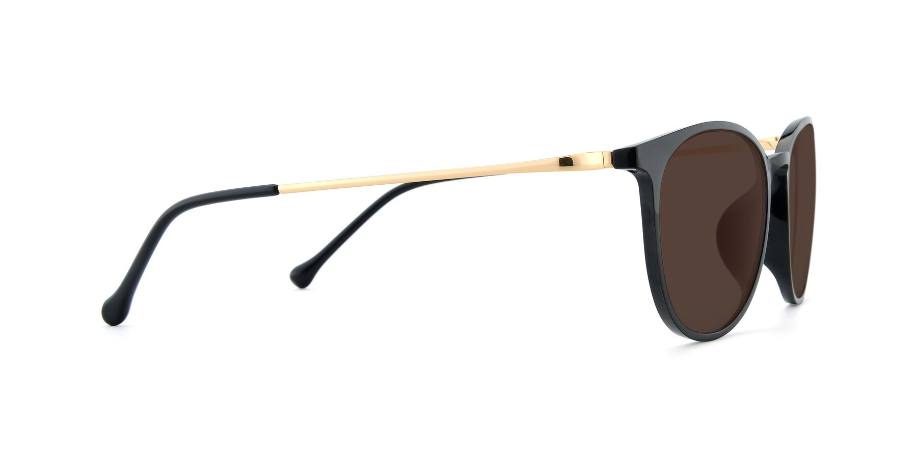 Side of XC-6006 in Black-Gold with Brown Tinted Lenses